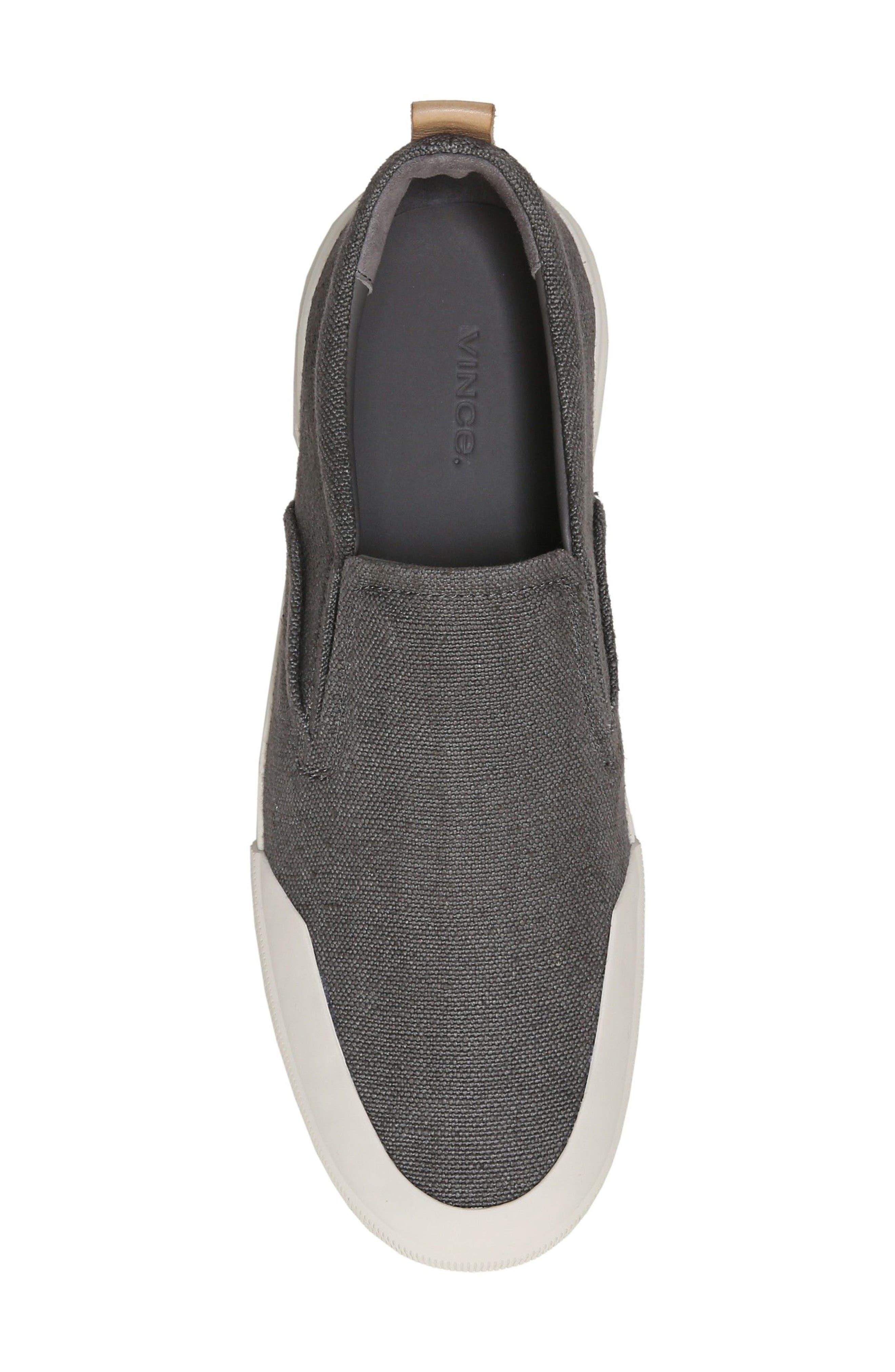 Vernon Slip-On Sneaker,                             Alternate thumbnail 5, color,                             Graphite/ Cuoio