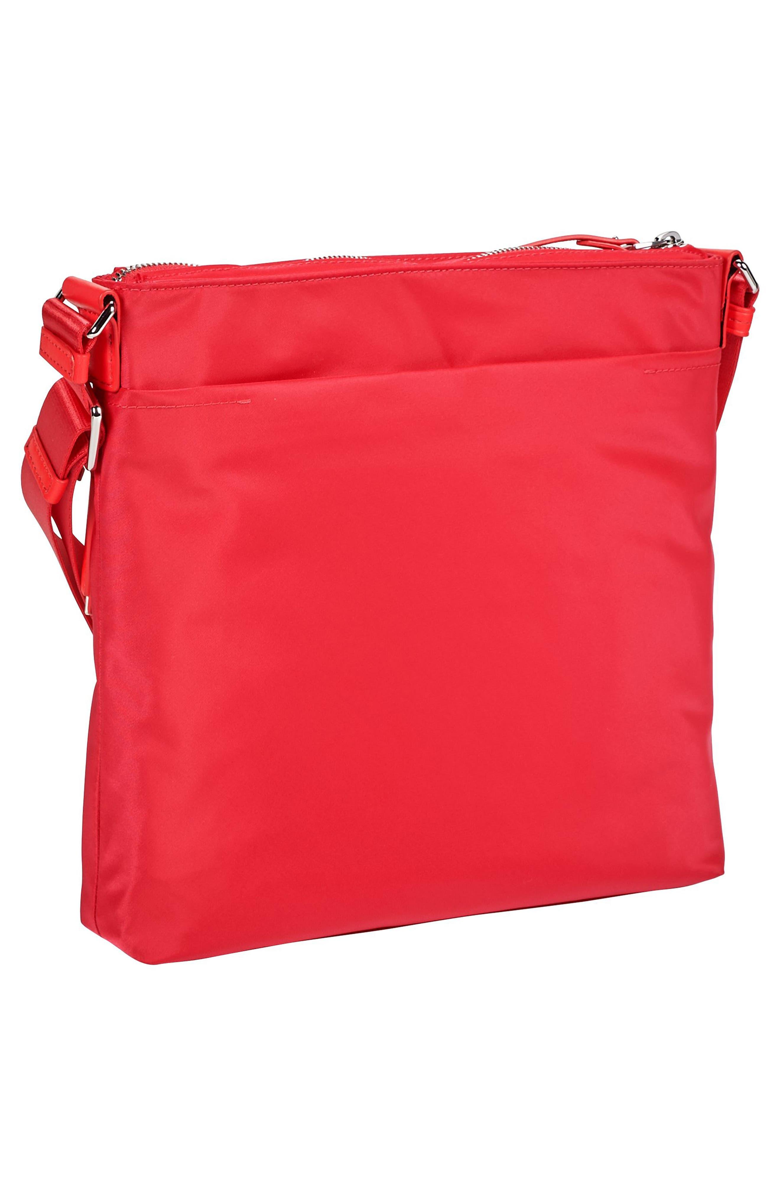 Voyageur - Capri Nylon Crossbody Bag,                             Alternate thumbnail 4, color,                             Hot Pink