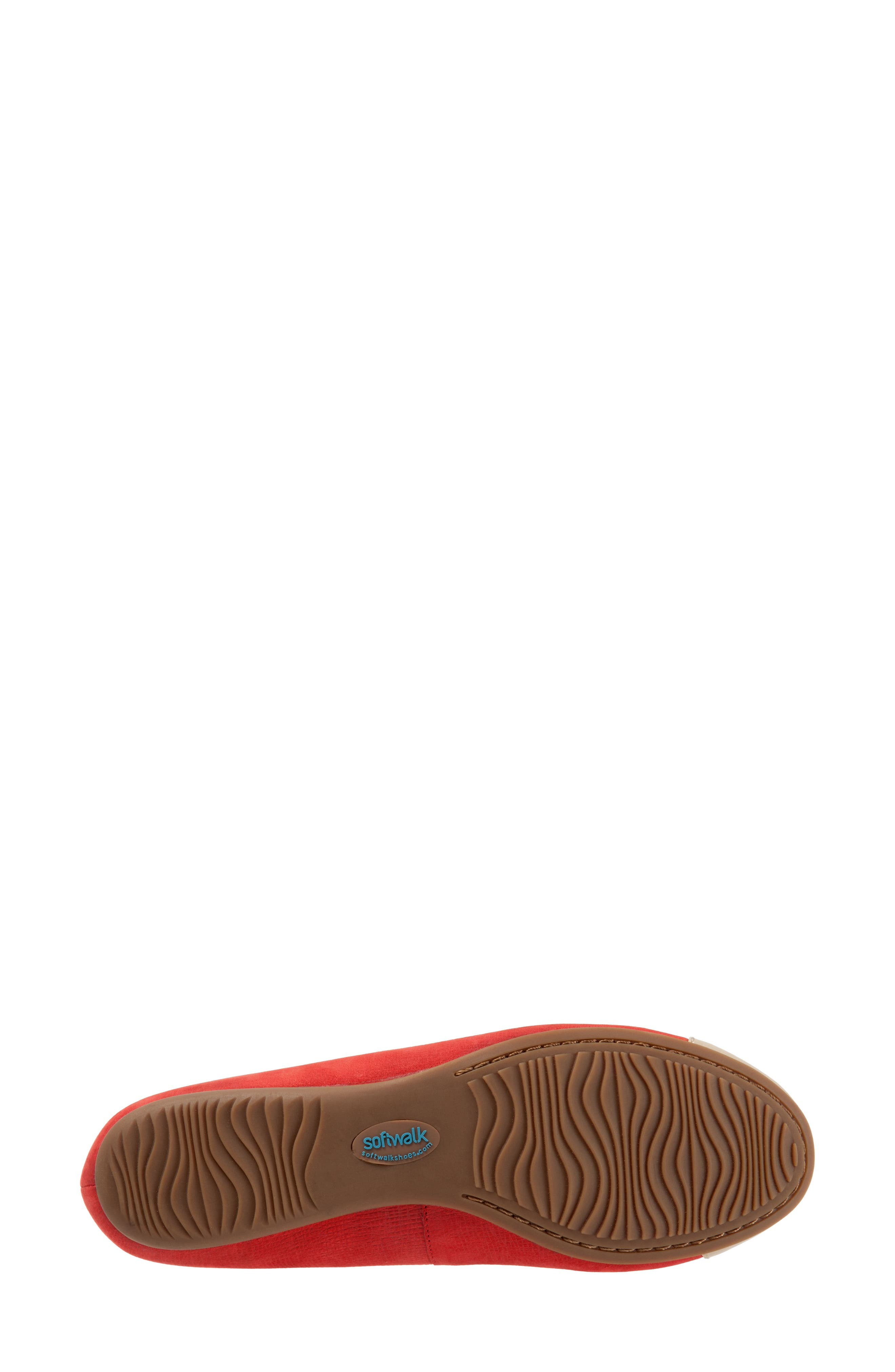 Napa Mary Jane Flat,                             Alternate thumbnail 8, color,                             Red/ Nude Leather
