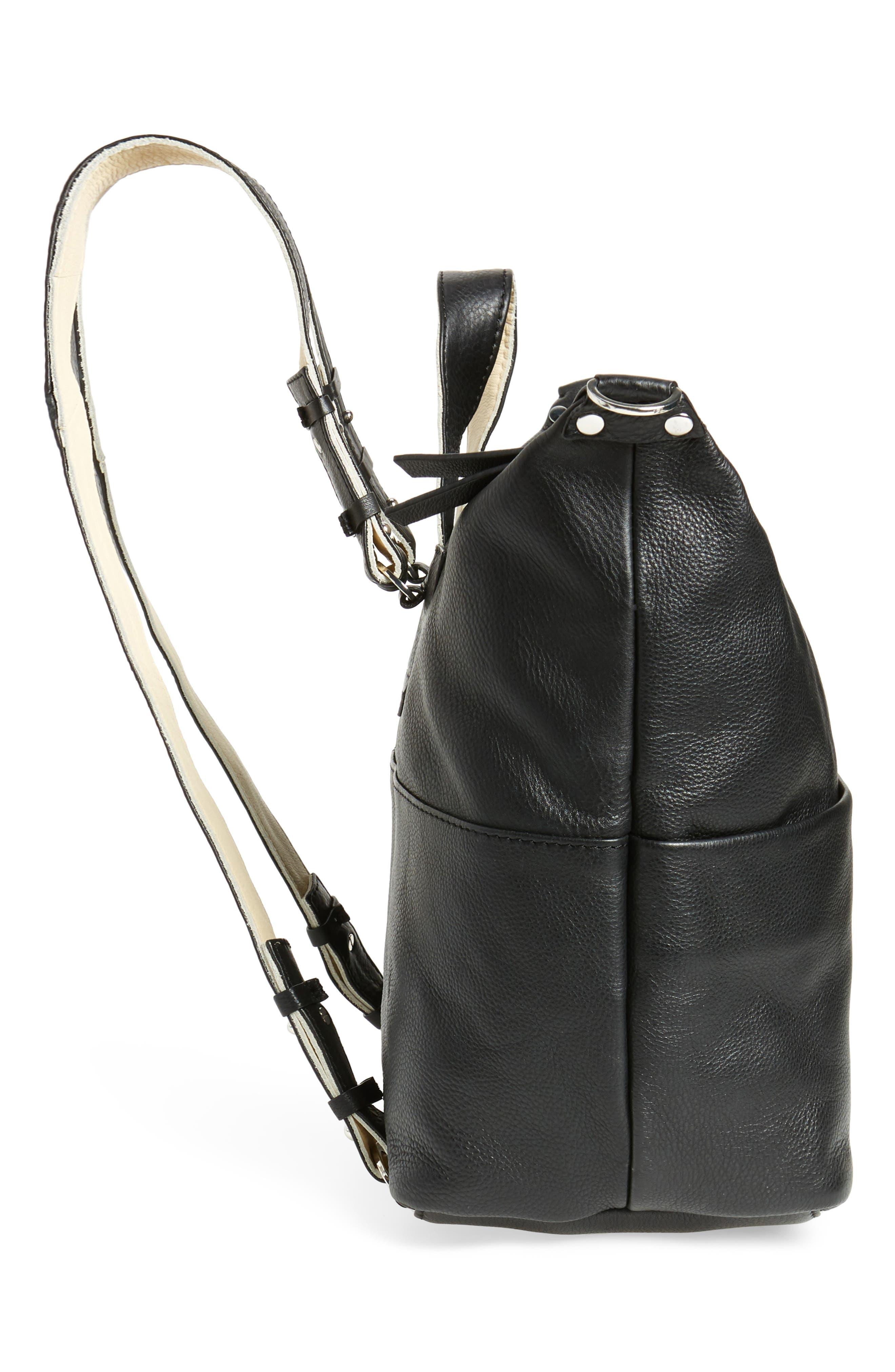Alternate Image 4  - Topshop Premium Leather Convertible Backpack