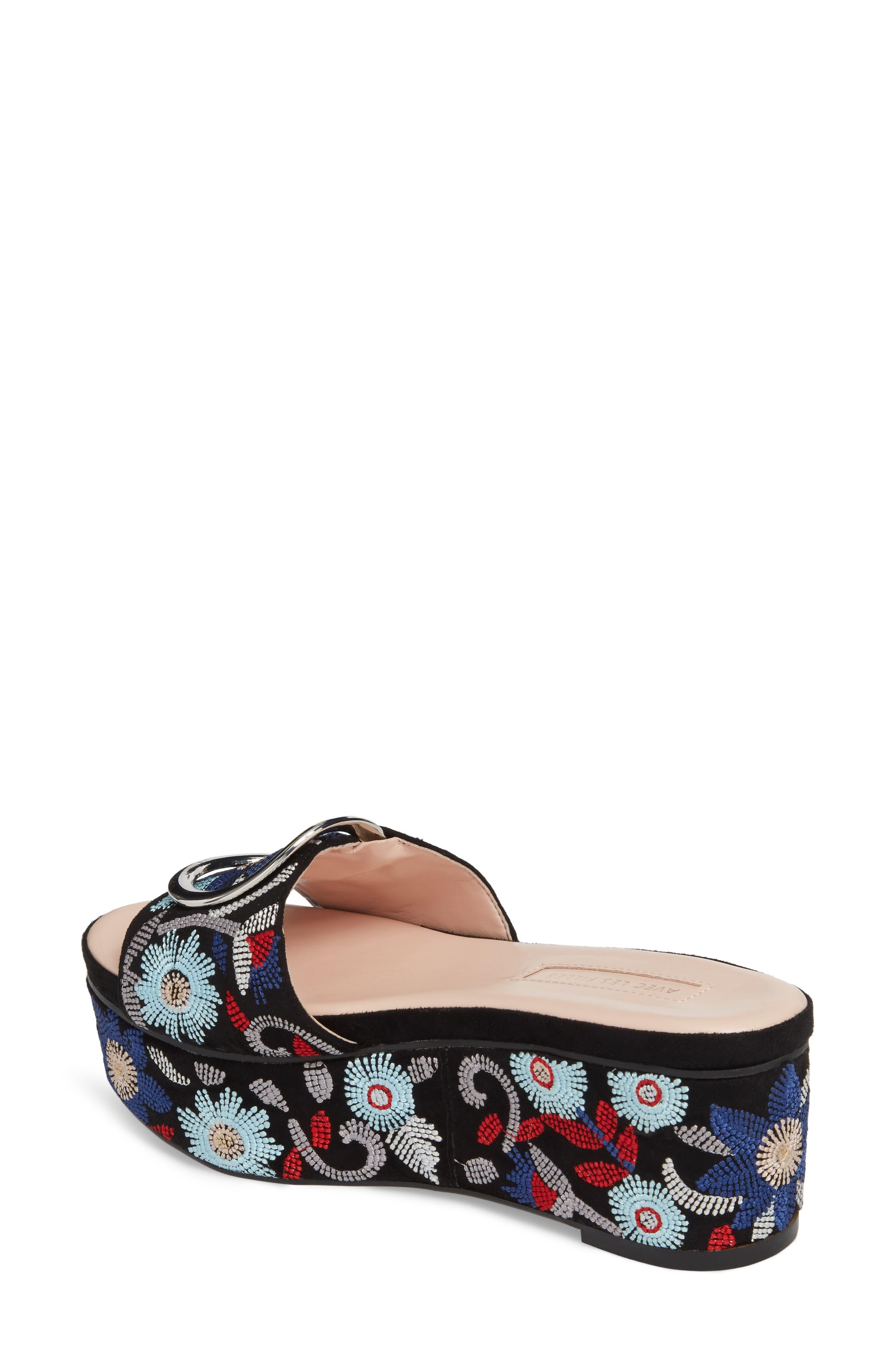 Alternate Image 2  - Avec Les Filles Addison Platform Slide Sandal (Women)