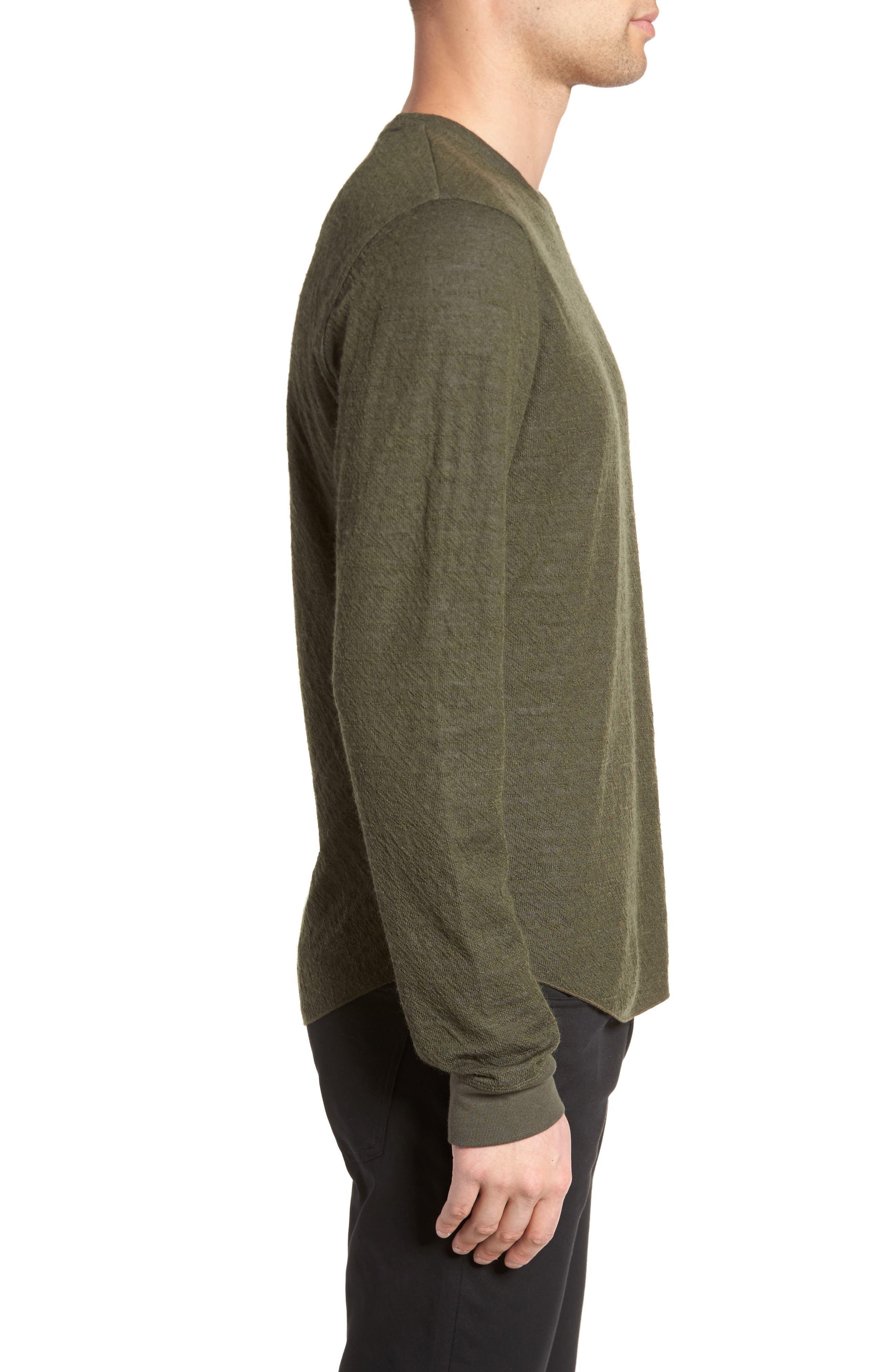 Alternate Image 4  - Vince Double Knit Long Sleeve Shirt