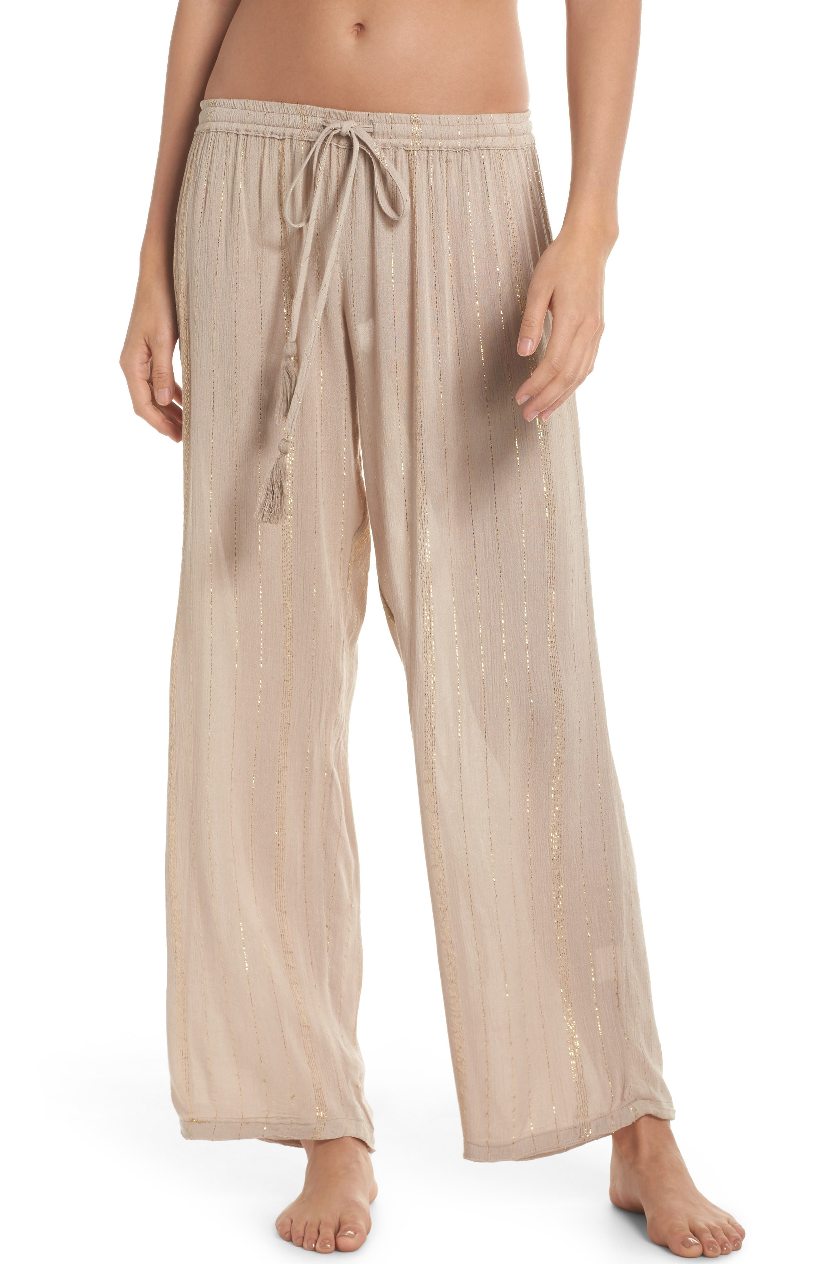 Iris Cover-Up Pants,                         Main,                         color, Taupe/ Gold