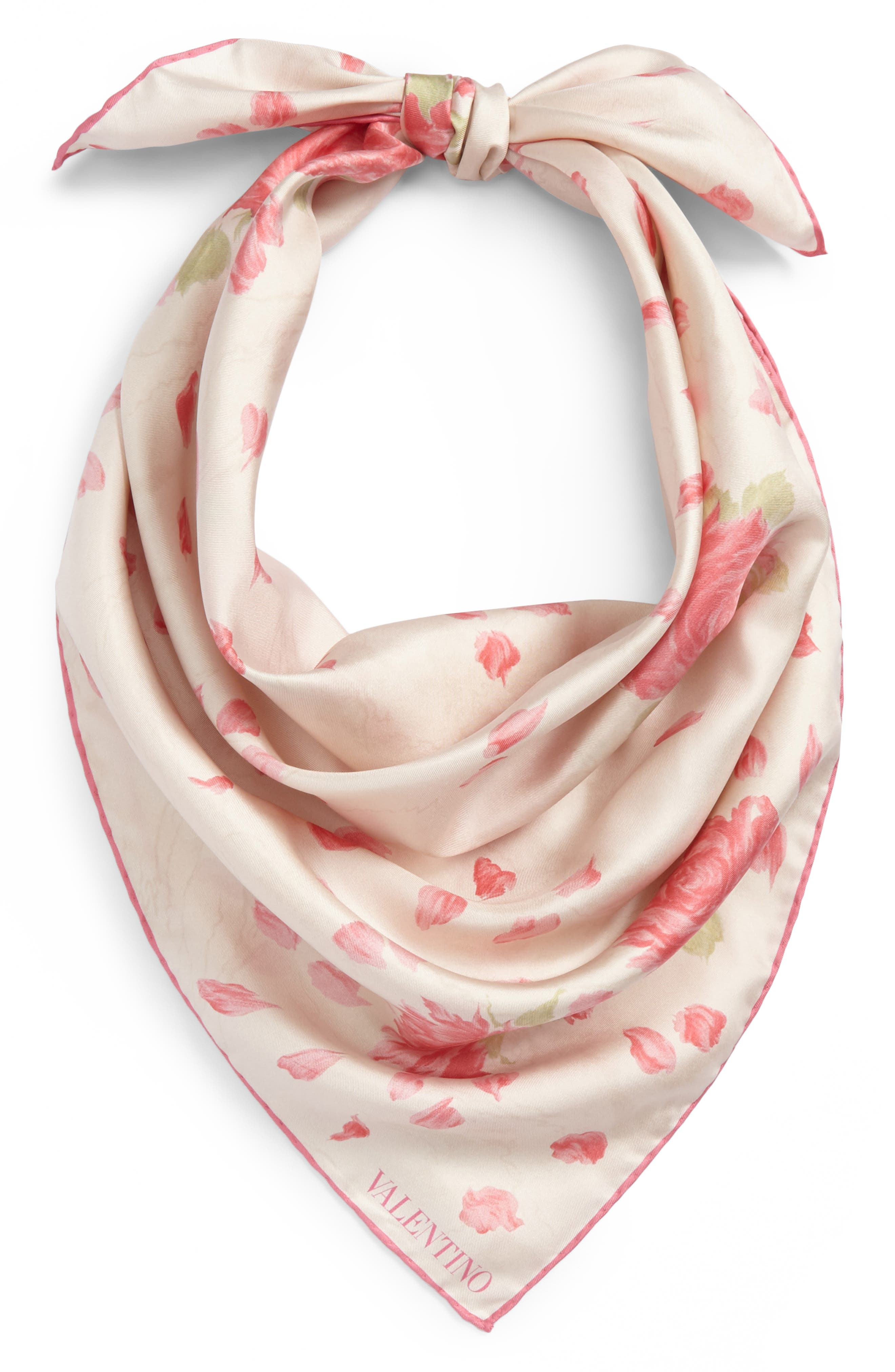 Alternate Image 2  - VALENTINO GARAVANI Rose Re-Edition Square Silk Scarf