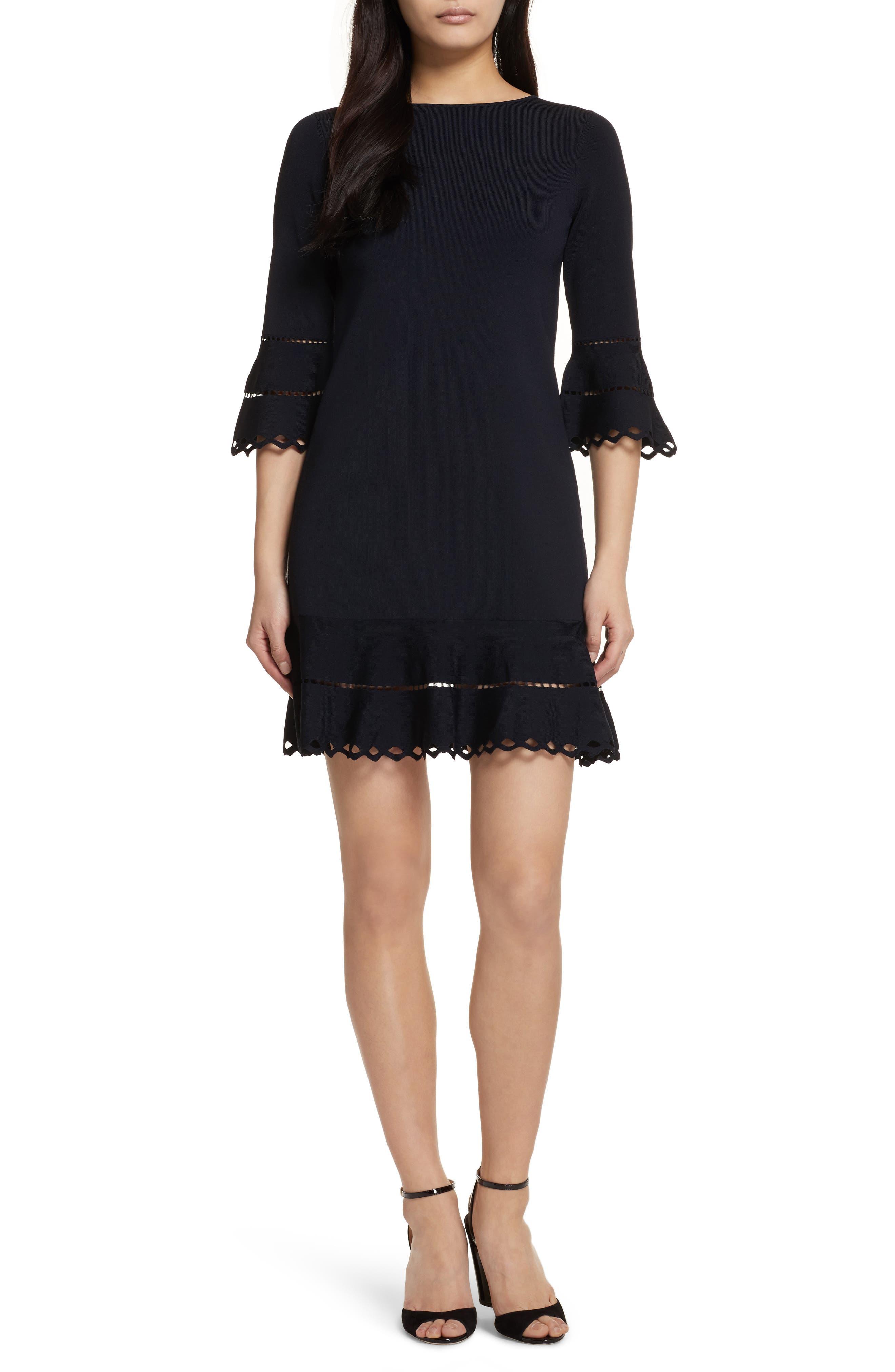 Ted Baker London Yazmiin Knit Ruffle Trim Dress