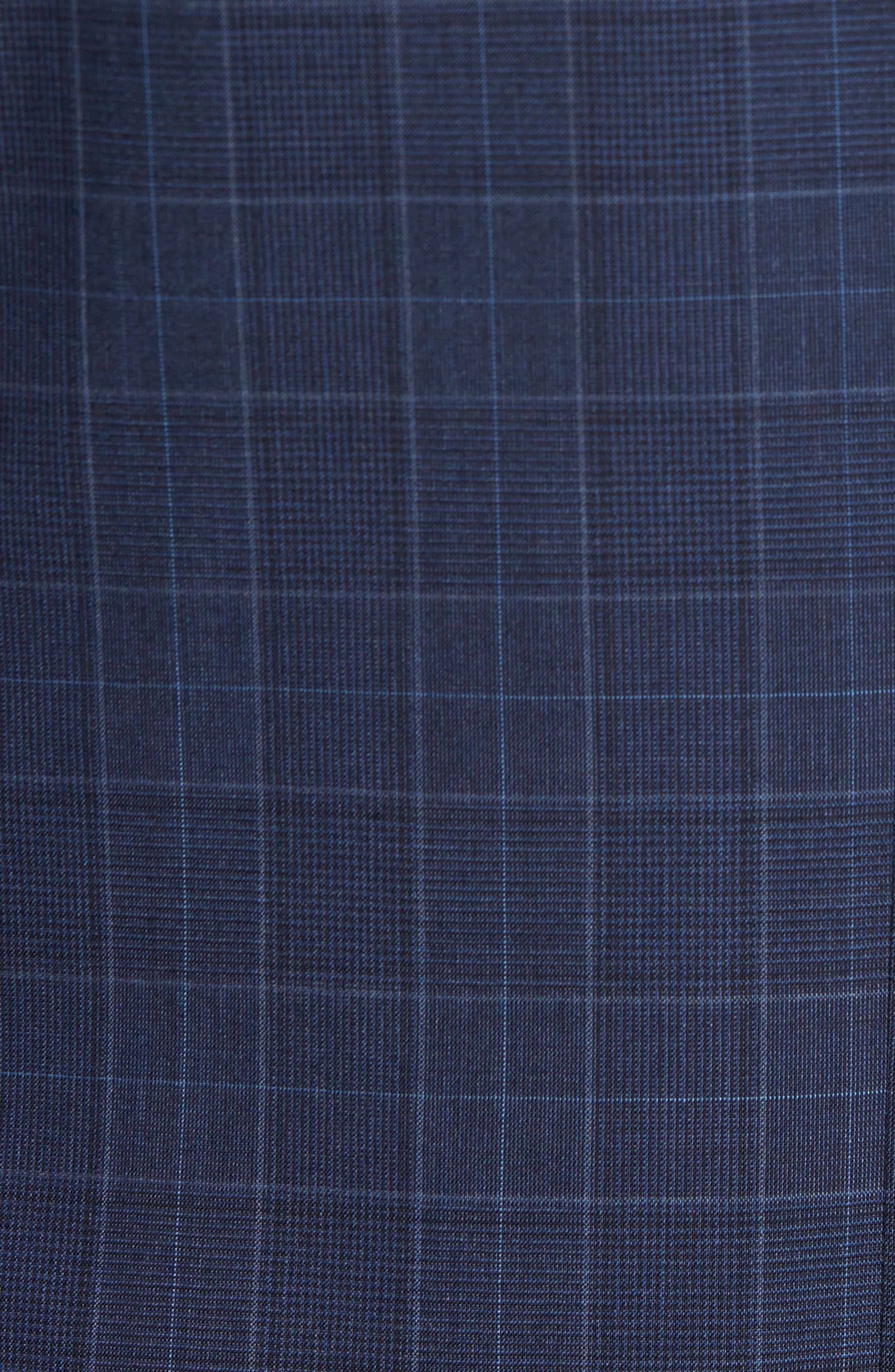 Hutson/Gander Trim Fit Plaid Wool Suit,                             Alternate thumbnail 7, color,                             Navy