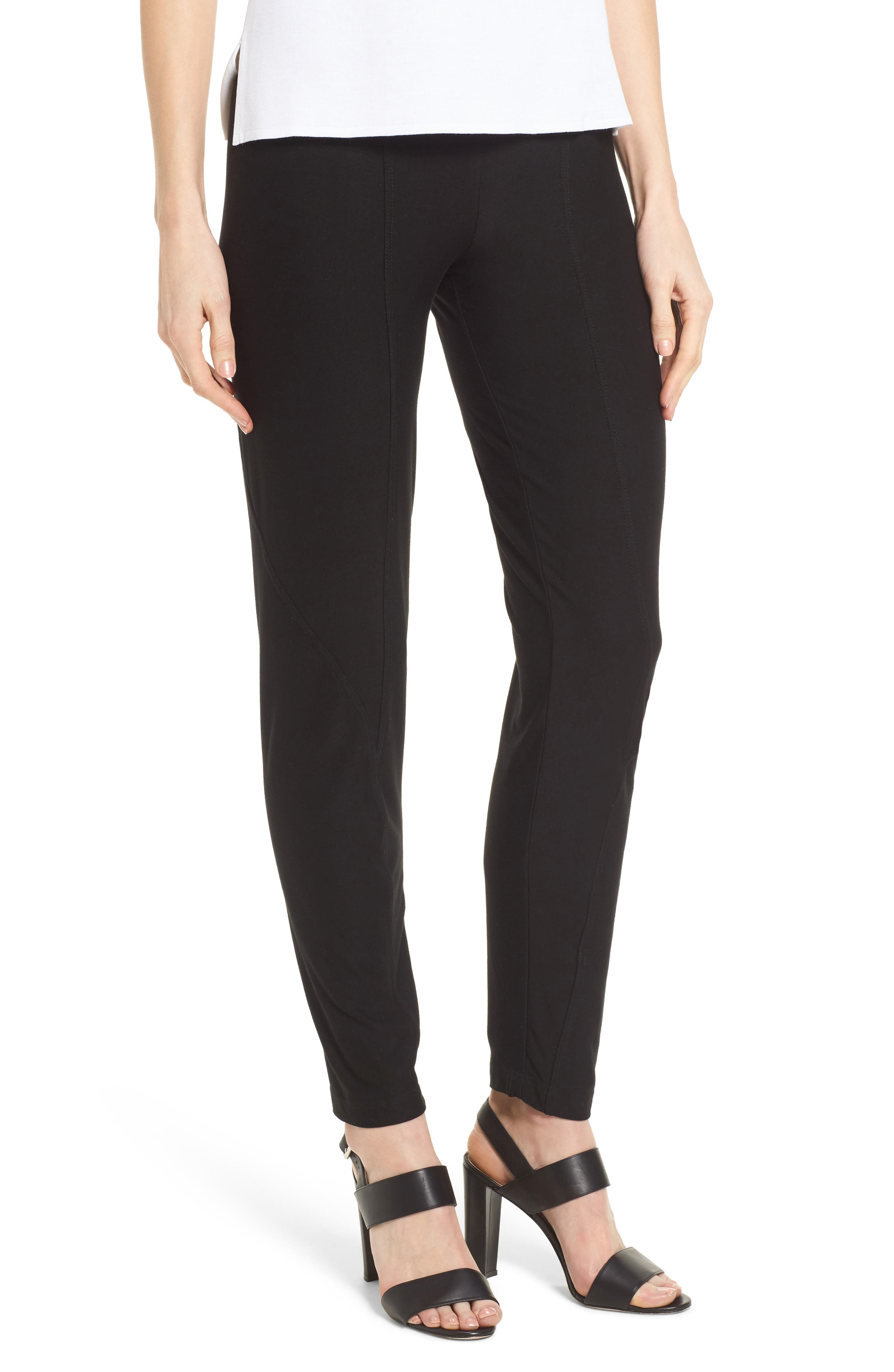 Jersey Leggings,                         Main,                         color, Black