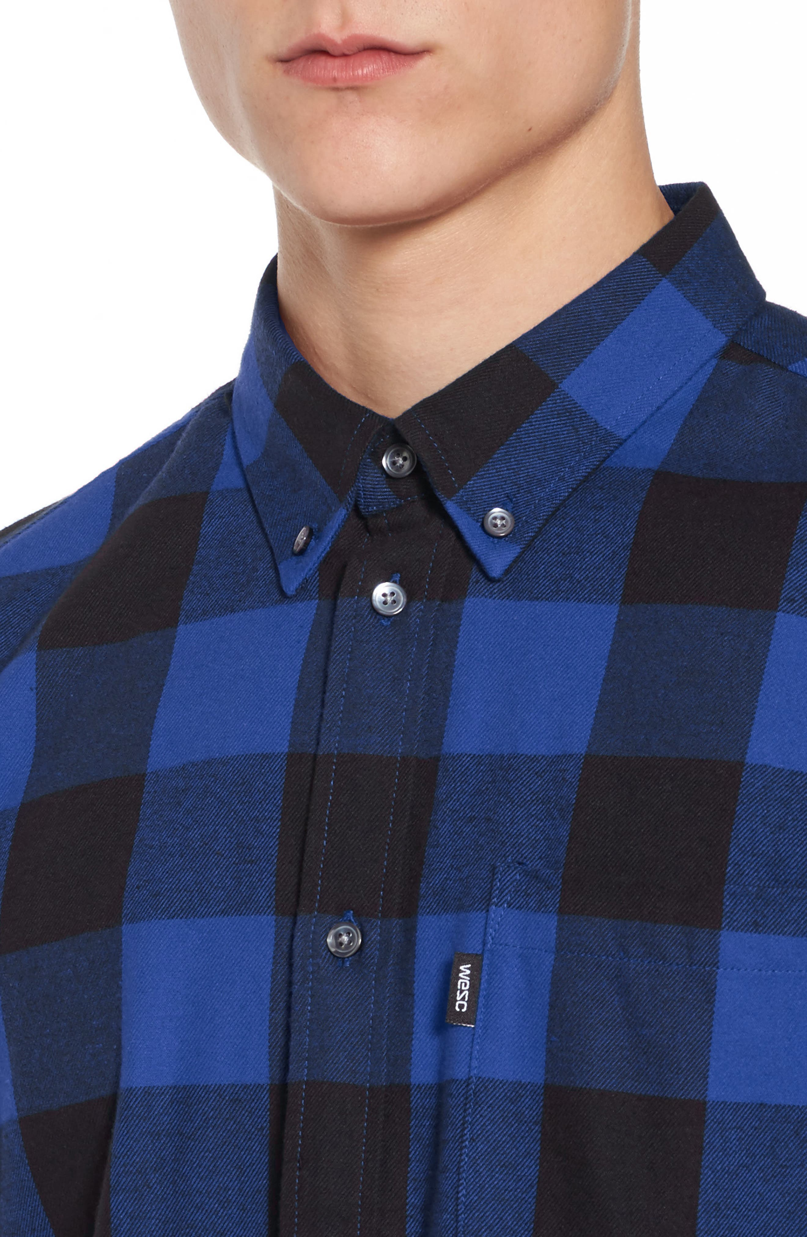 Alternate Image 4  - WeSC Olavi Check Flannel Shirt