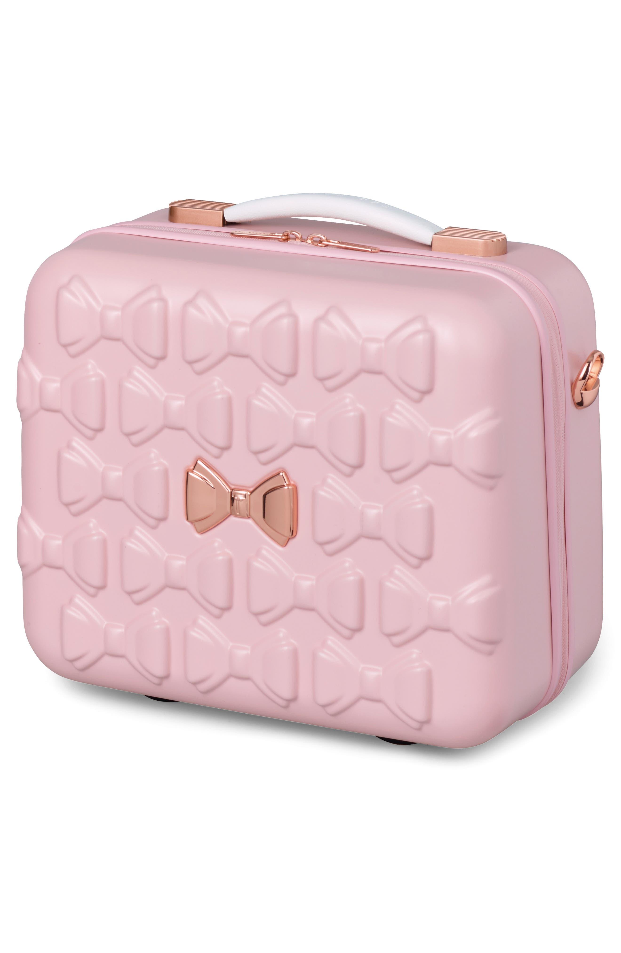 Beau Hardshell Vanity Case,                             Alternate thumbnail 4, color,                             Pink