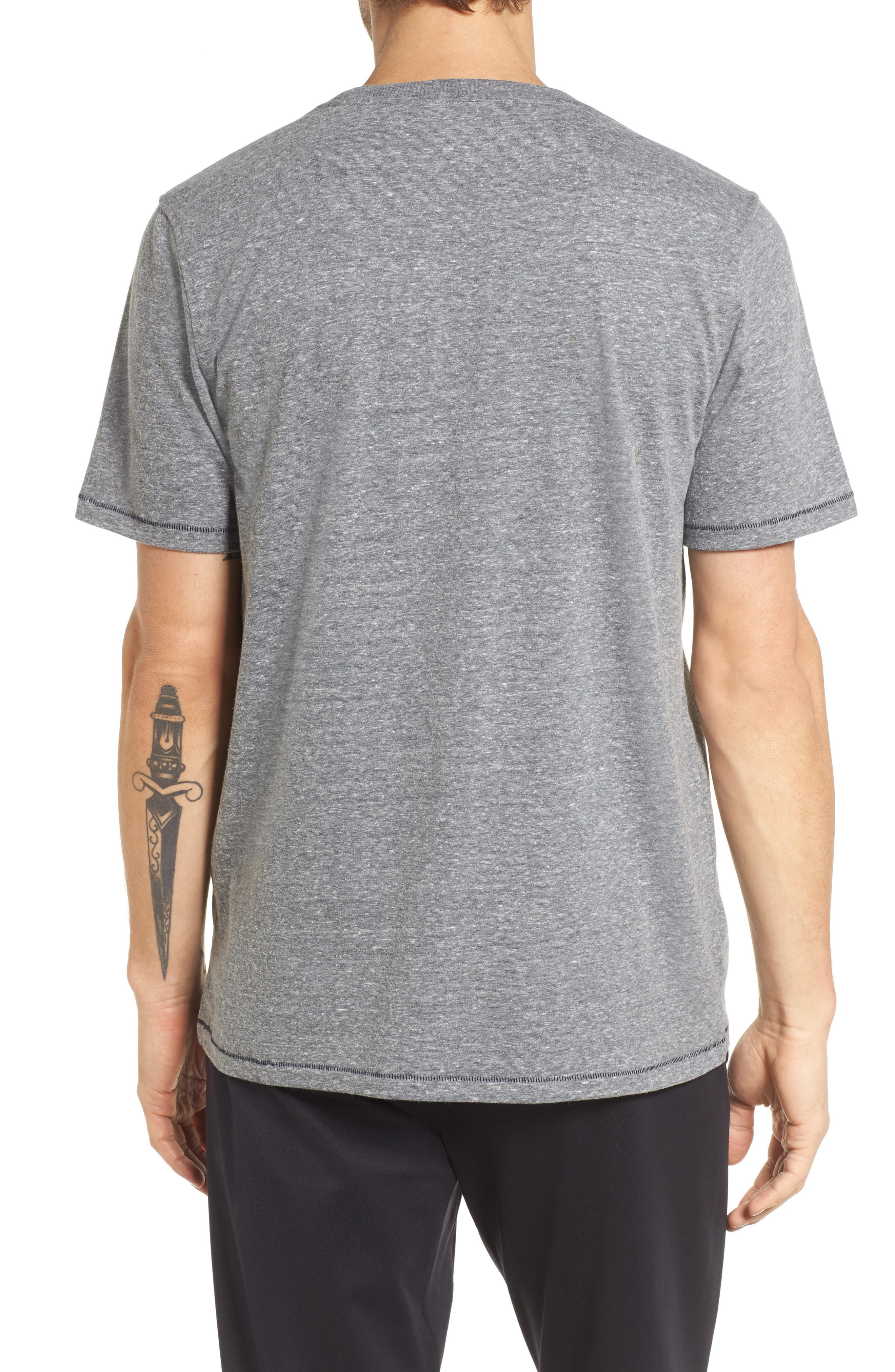 Benjamin Crewneck T-Shirt,                             Alternate thumbnail 2, color,                             Grey Heather