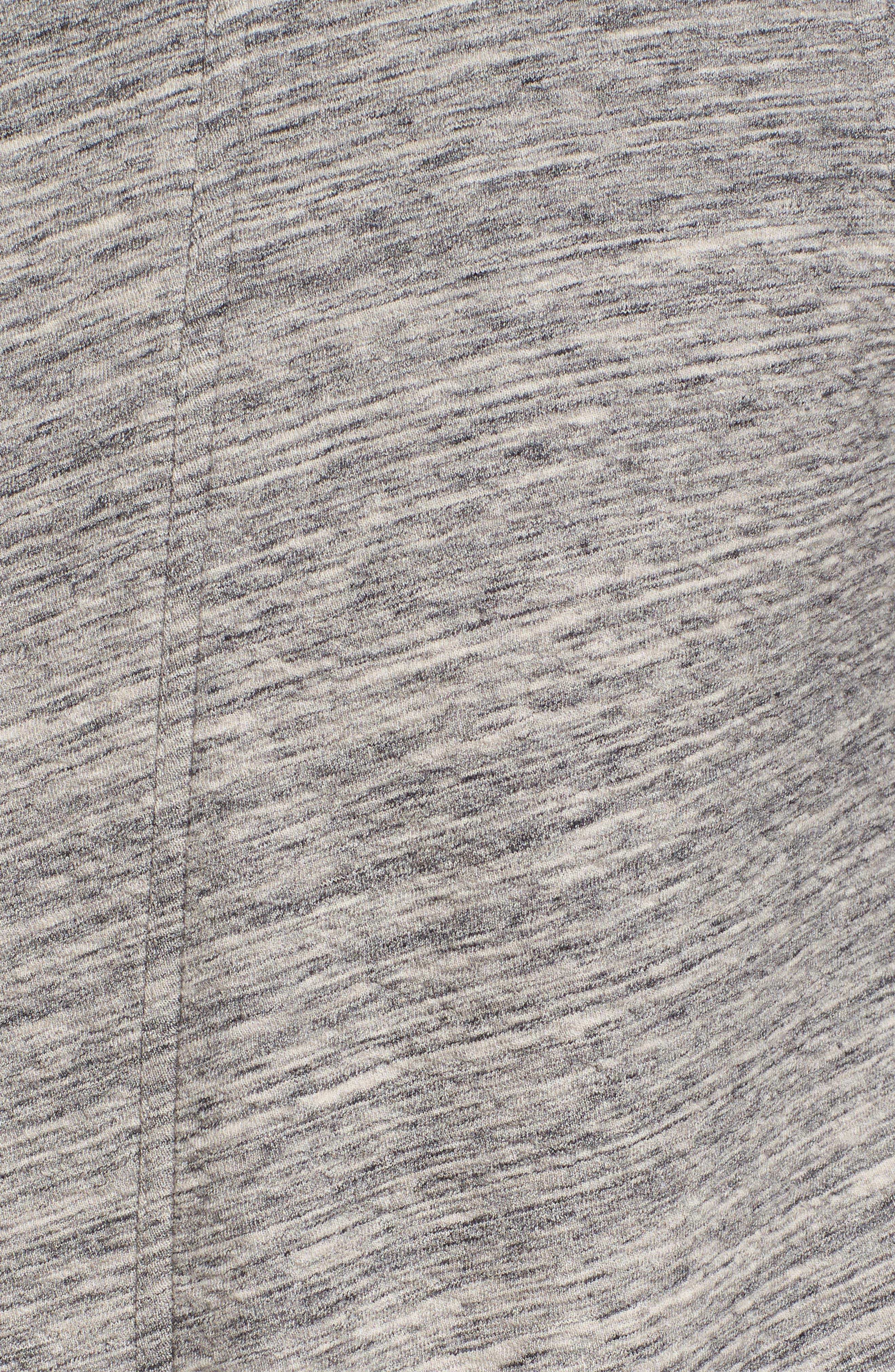 Kent Cotton Blend Robe,                             Alternate thumbnail 5, color,                             Black Heather