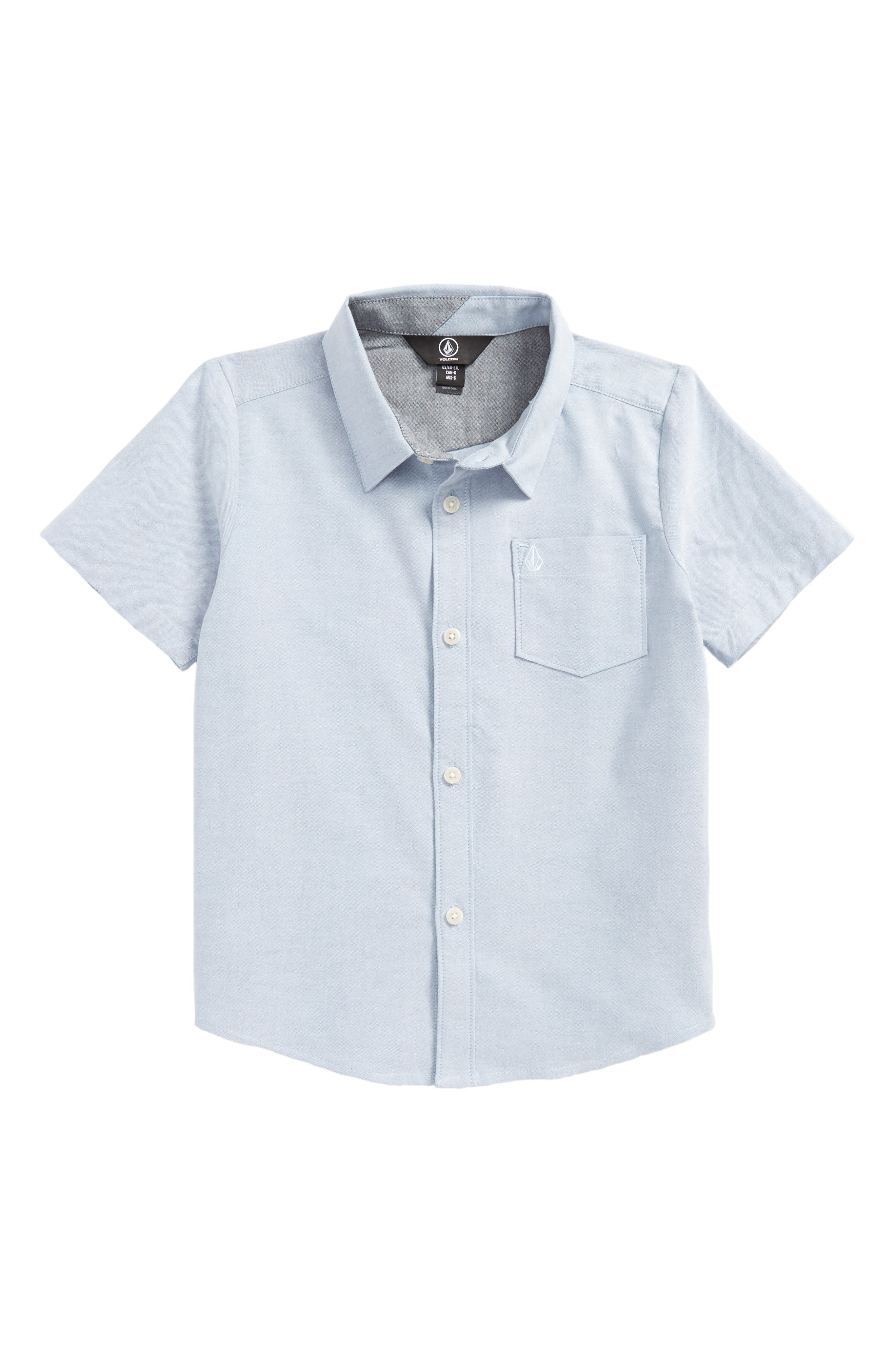 Everett Oxford Woven Shirt,                             Main thumbnail 1, color,                             Wrecked Indigo