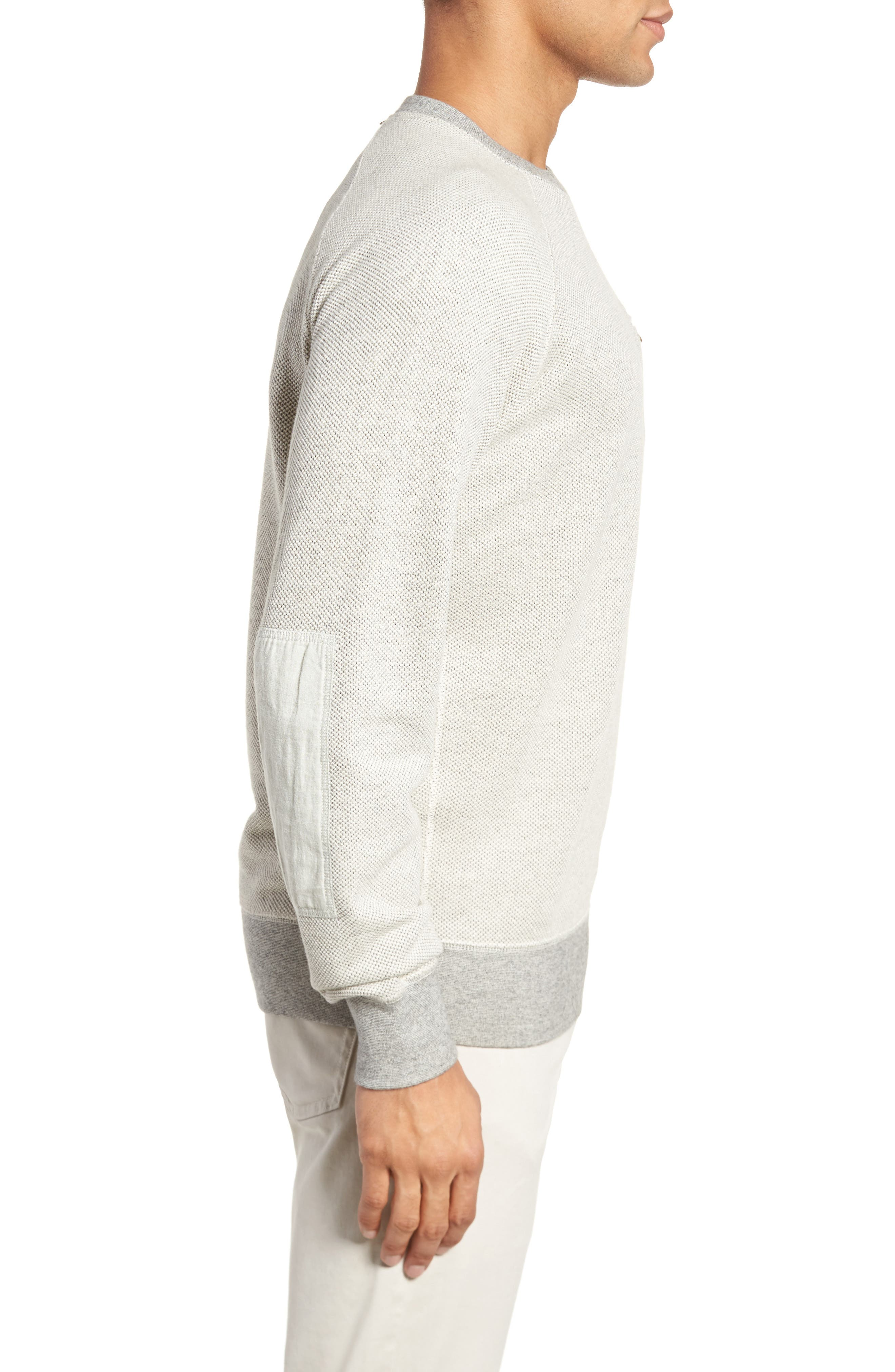 Tommy Pullover Sweatshirt,                             Alternate thumbnail 3, color,                             Light Grey