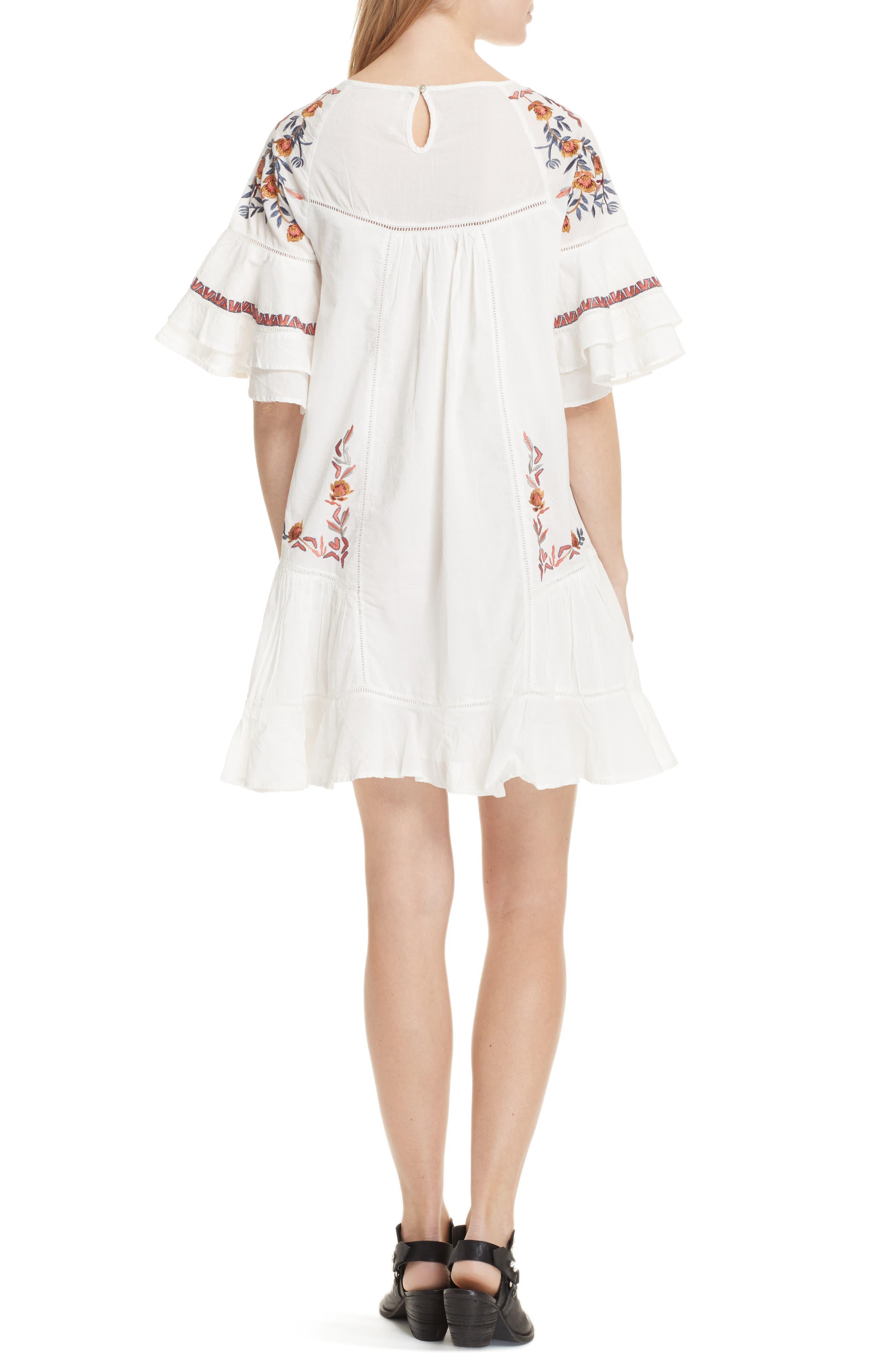 Pavlo Babydoll Dress,                             Alternate thumbnail 2, color,                             Ivory