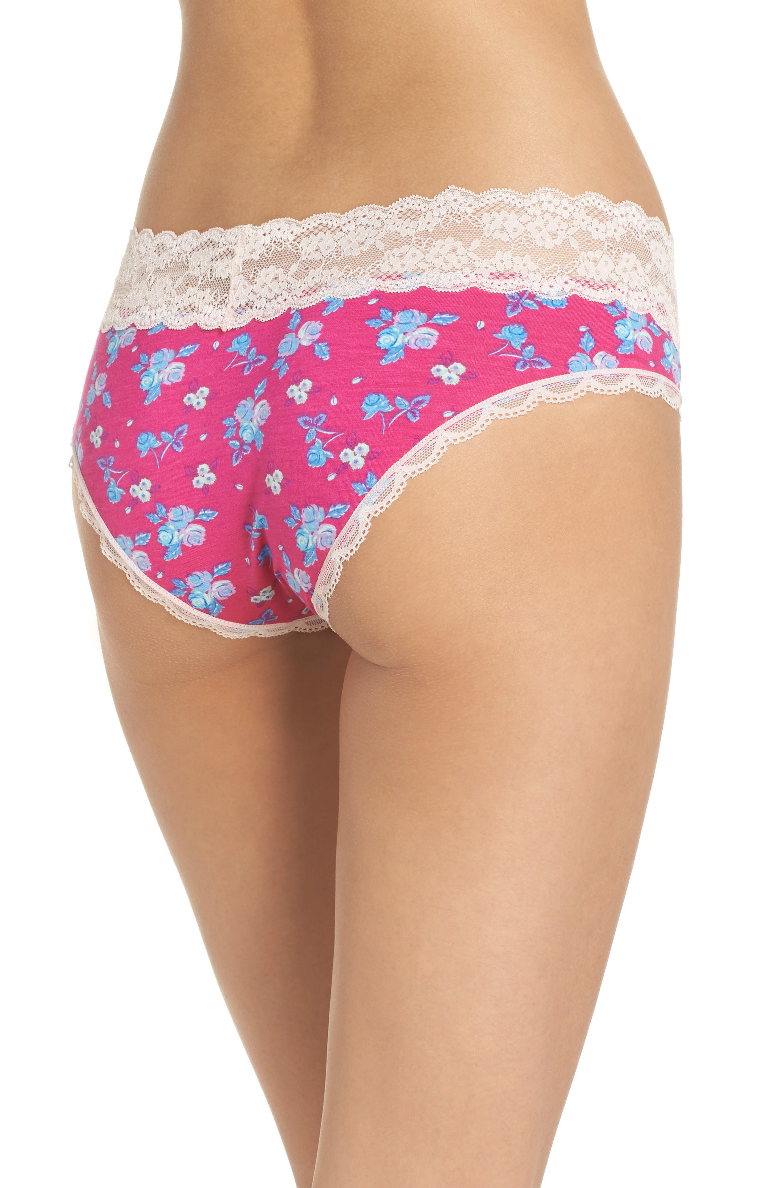 Alternate Image 2  - Honeydew Intimates Lace Waistband Hipster Panties (3 for $33)