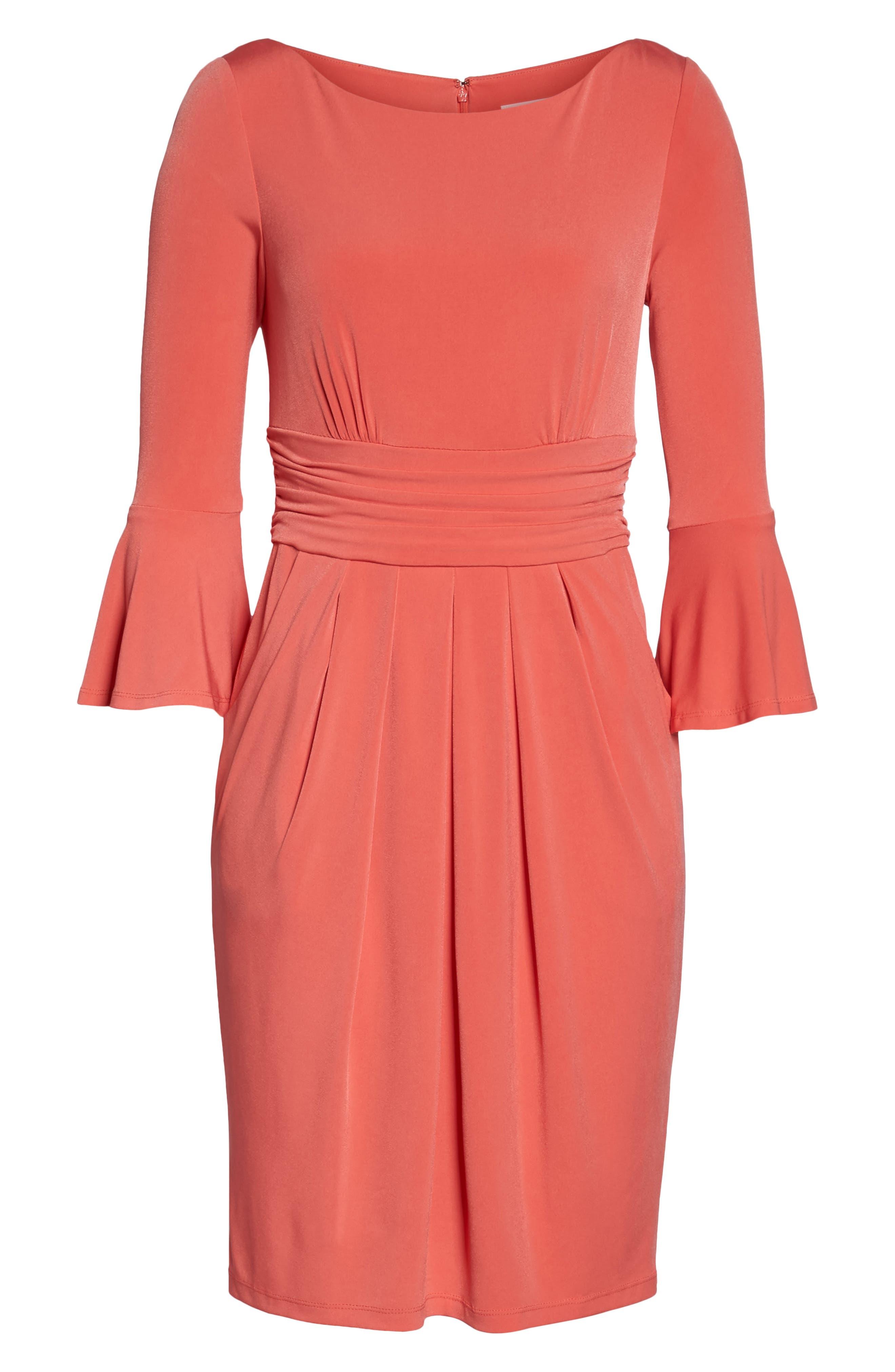Alternate Image 6  - Eliza J Flounce Sleeve Sheath Dress