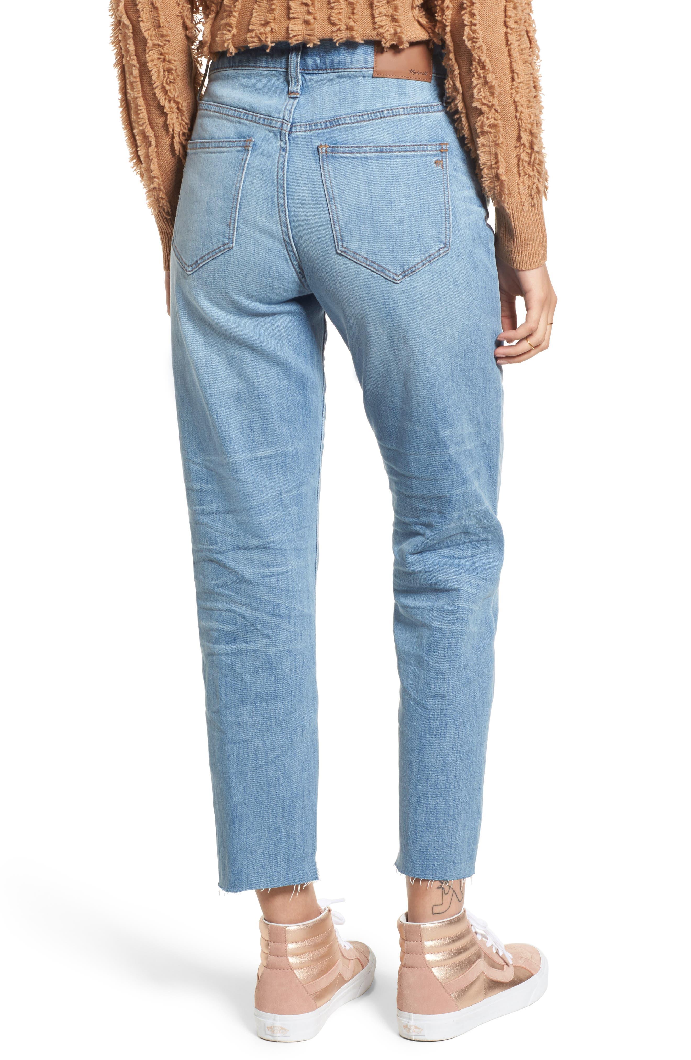 Cruiser Pieced High Waist Straight Leg Jeans,                             Alternate thumbnail 2, color,                             Travis Wash