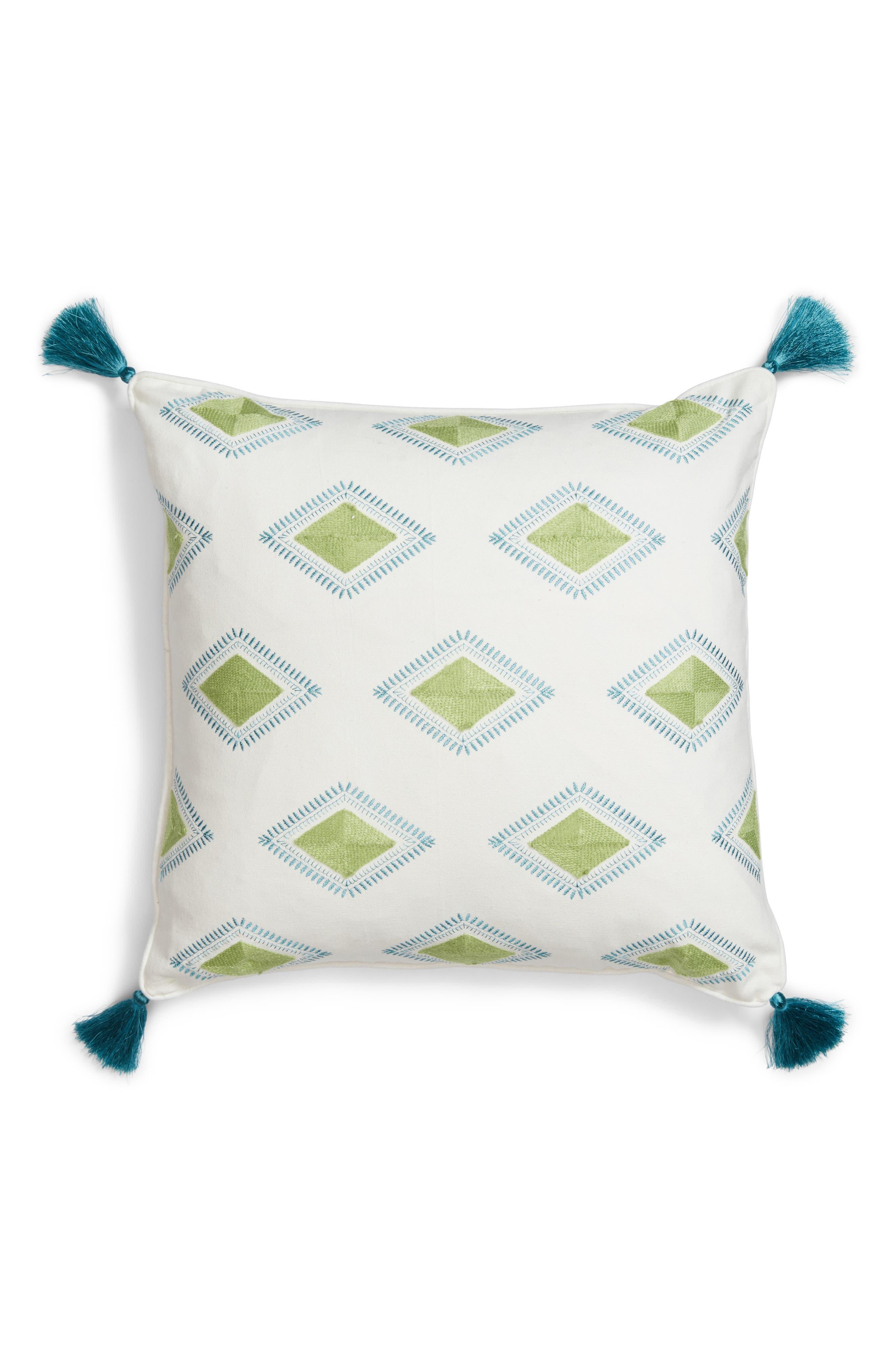 Luca Accent Pillow,                             Main thumbnail 1, color,                             Green