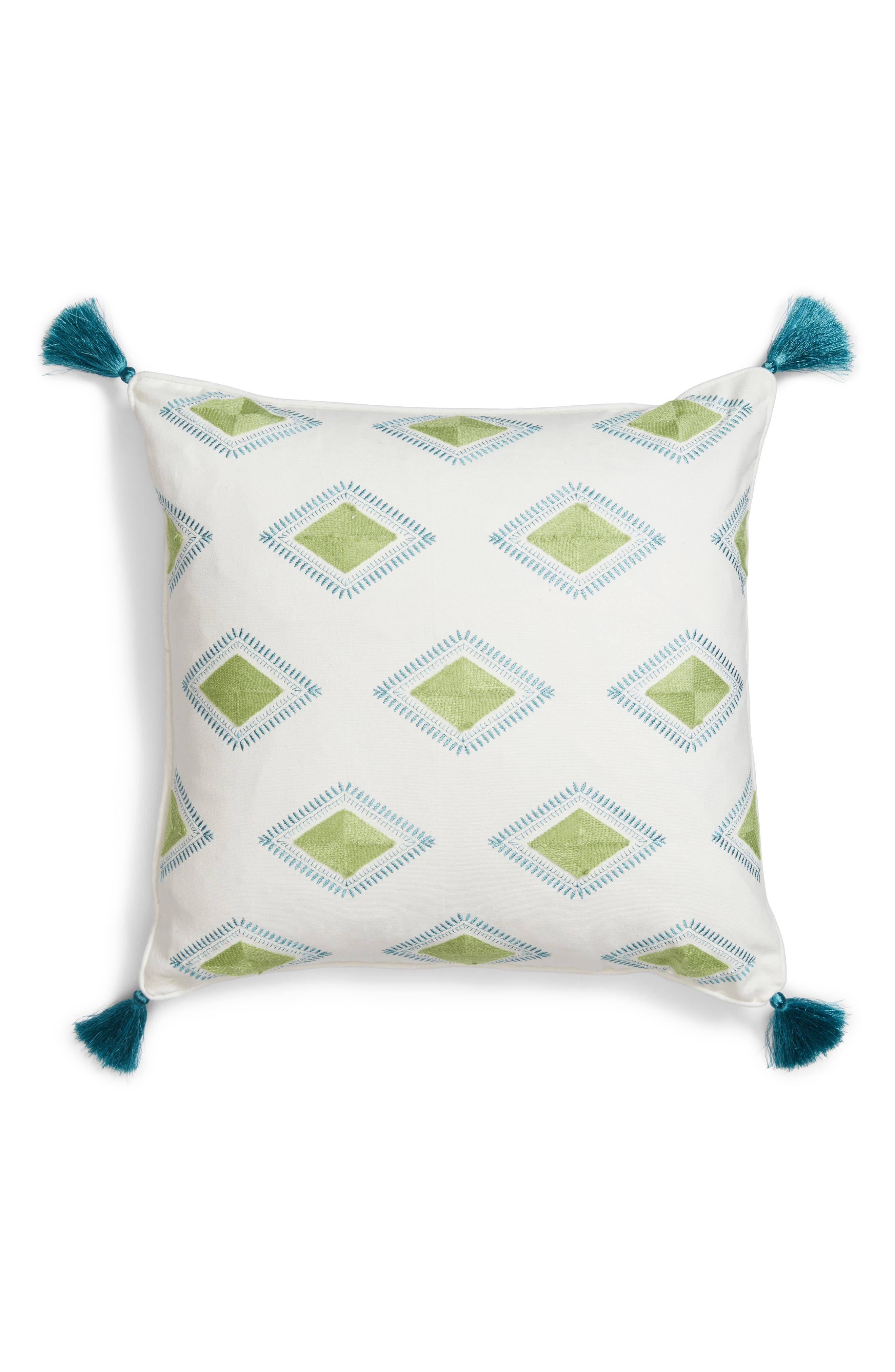 Luca Accent Pillow,                         Main,                         color, Green