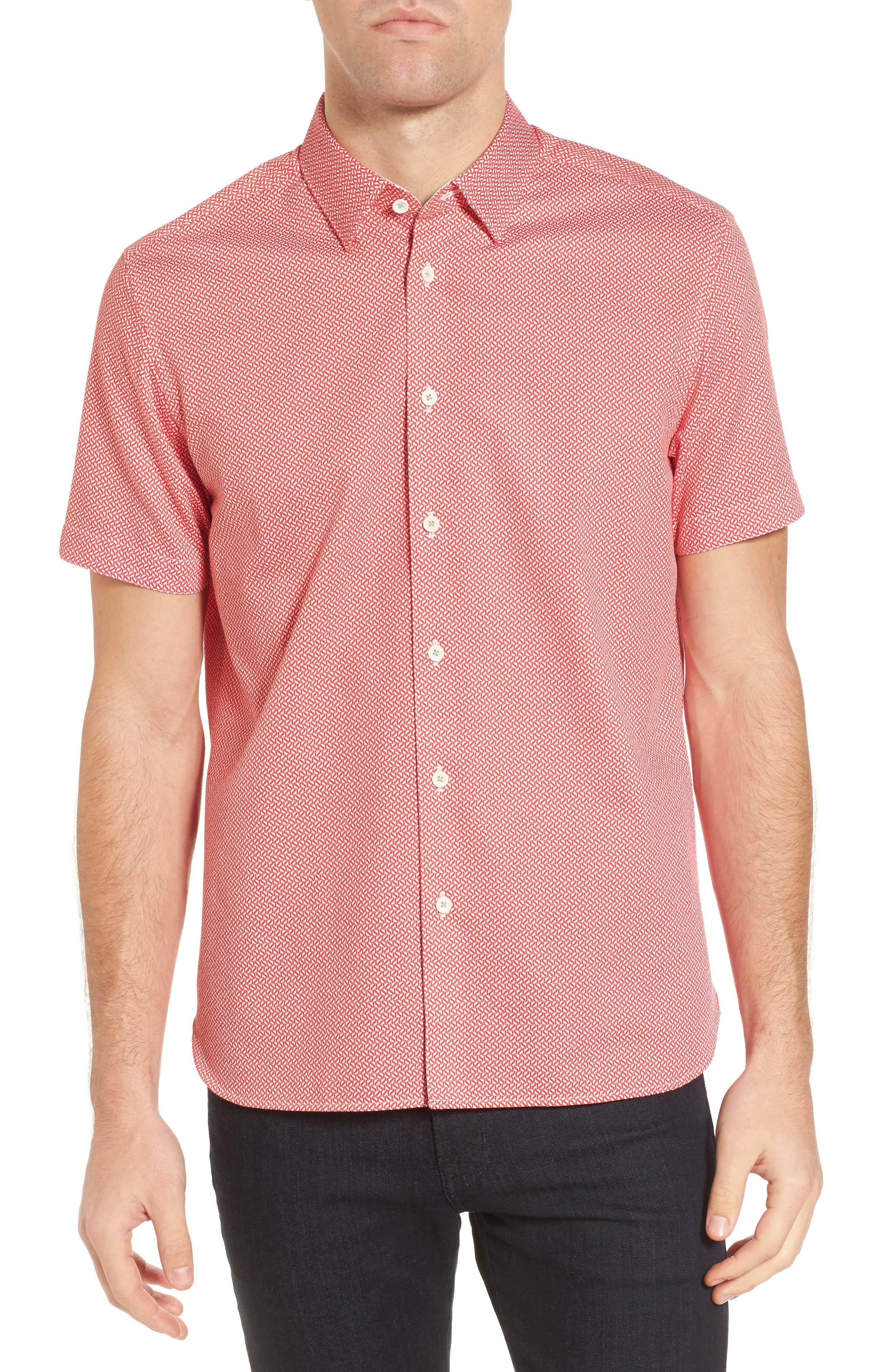 Main Image - Ted Baker London Slim Fit Print Sport Shirt