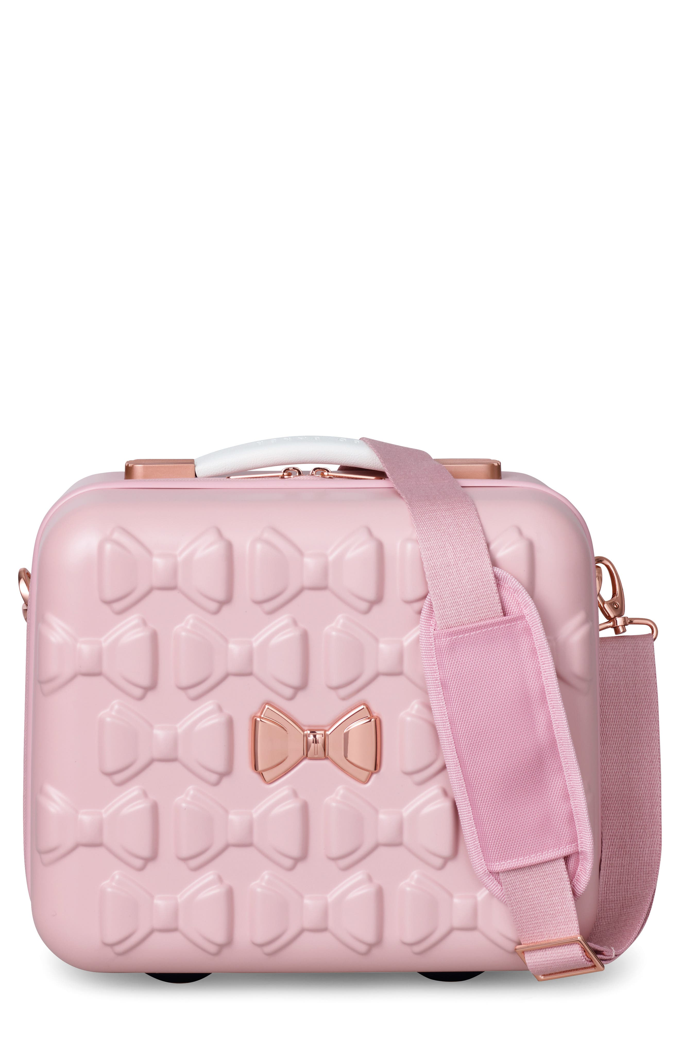 Beau Hardshell Vanity Case,                             Main thumbnail 1, color,                             Pink