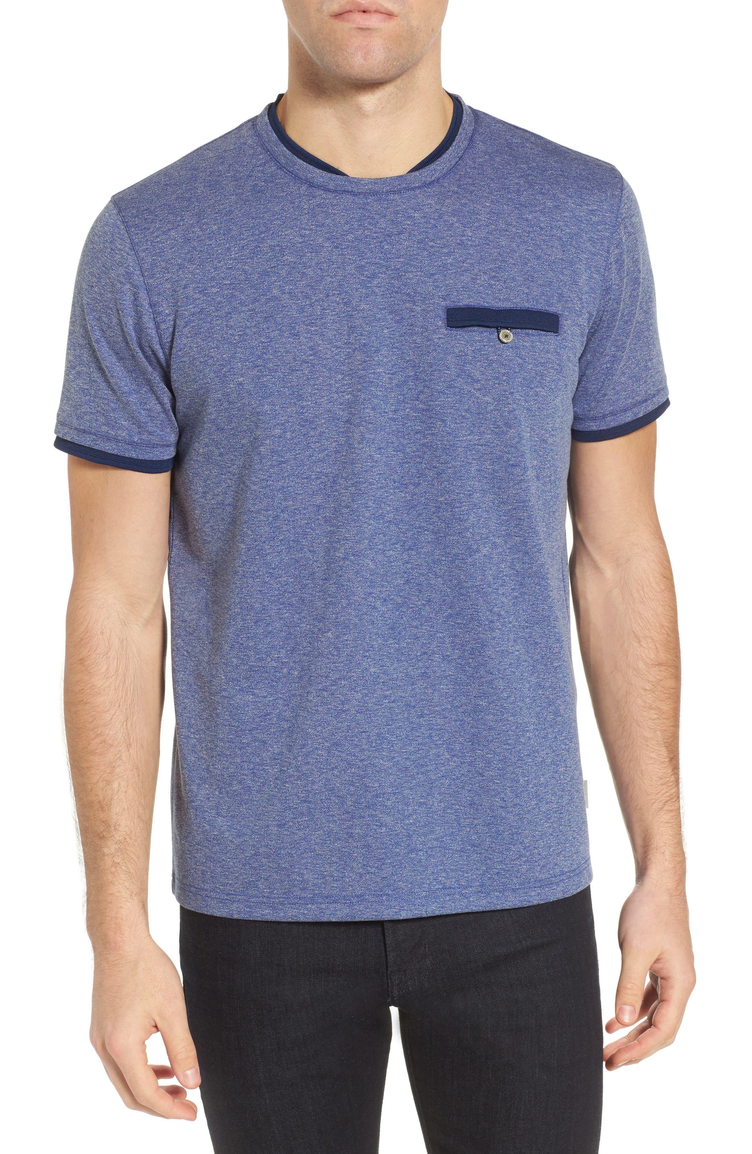 Alternate Image 1 Selected - Ted Baker London Climb Mouline Layered Pocket T-Shirt