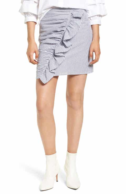 The Fifth Label Anagram Stripe Ruffle Skirt