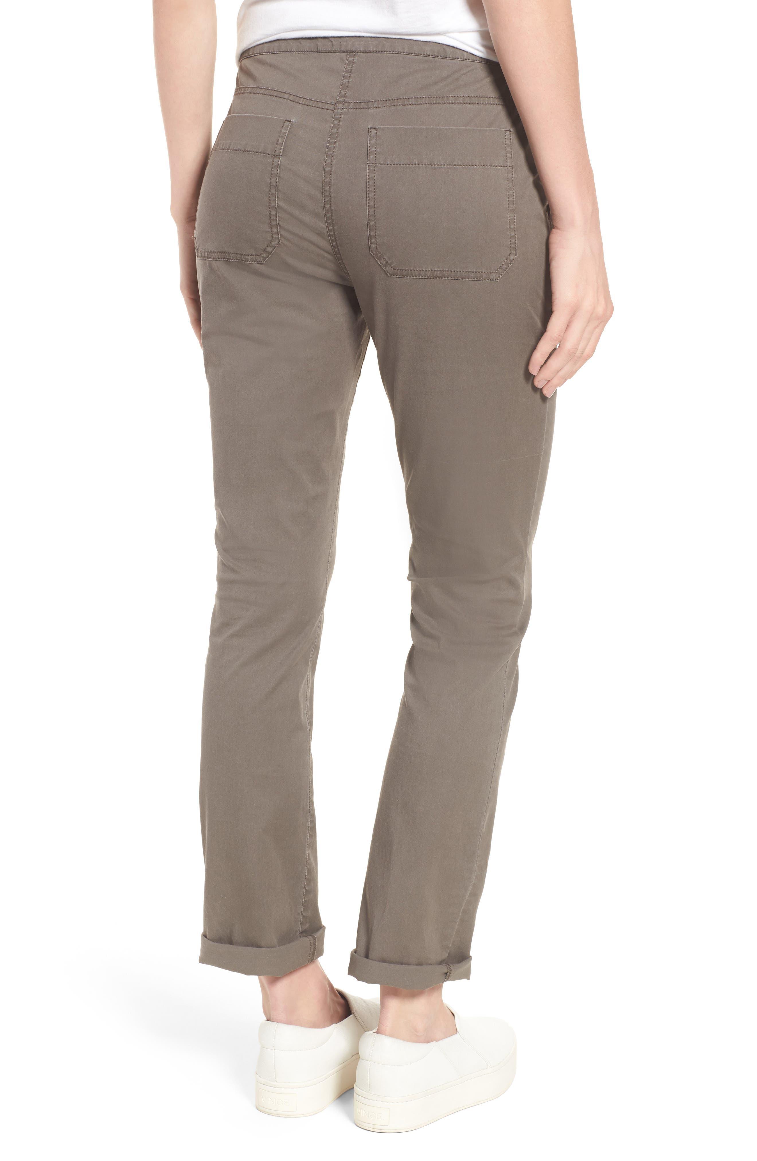 Slim Organic Cotton Blend Pants,                             Alternate thumbnail 2, color,                             Rye