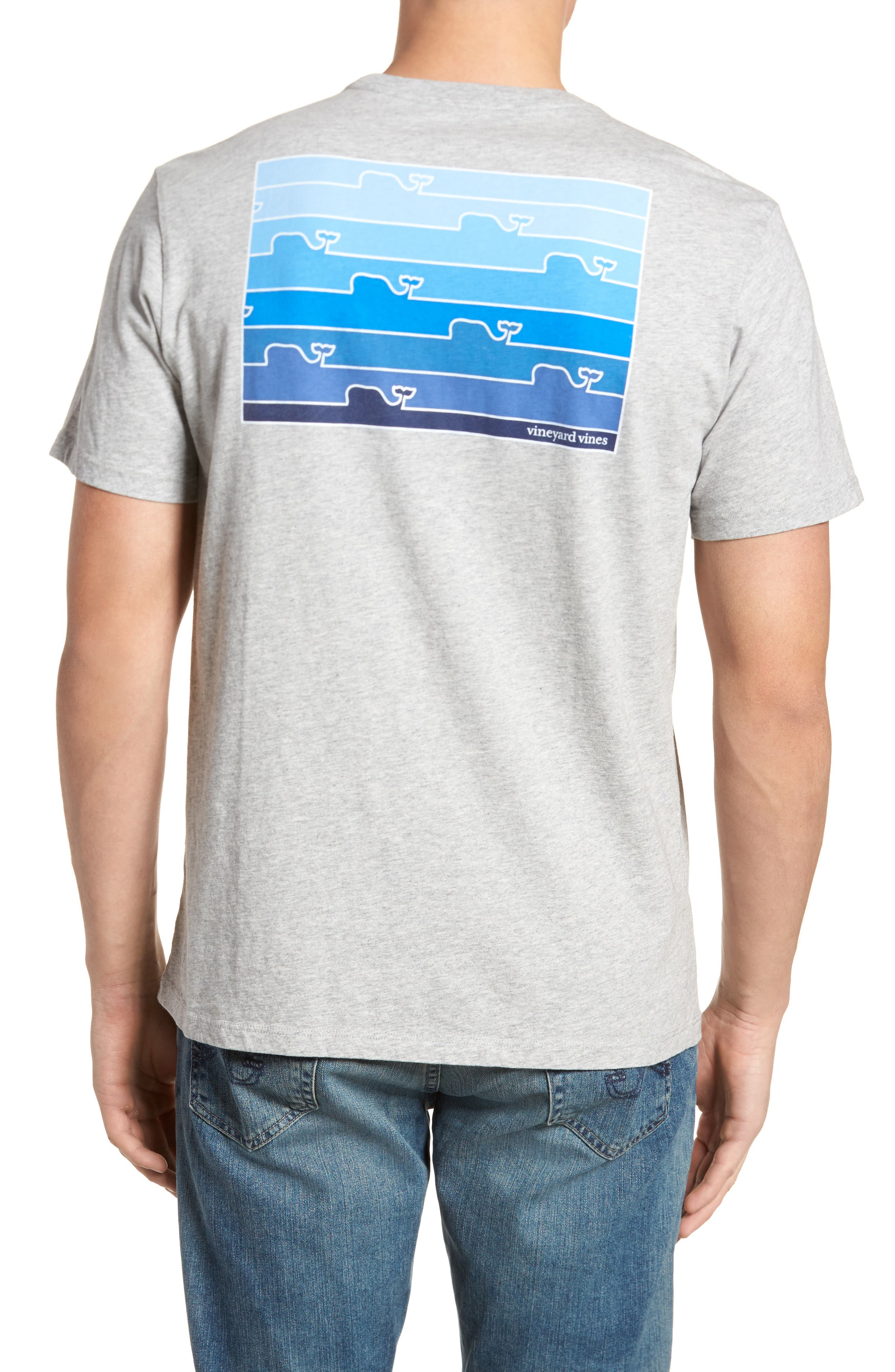 Whaleline Graphic Pocket T-Shirt,                             Main thumbnail 1, color,                             Grey Heather
