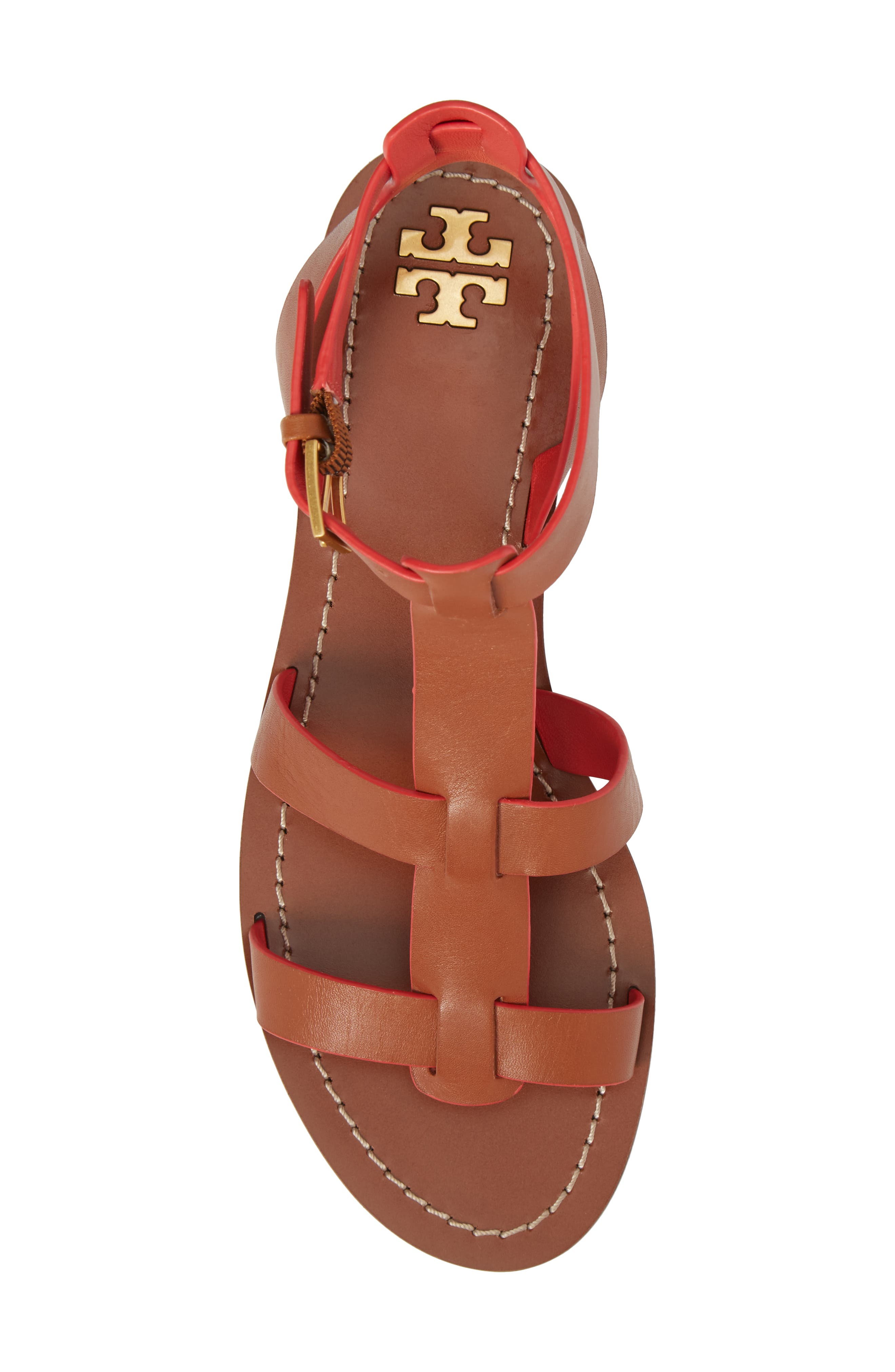 Patos Gladiator Sandal,                             Alternate thumbnail 5, color,                             Perfect Cuoio