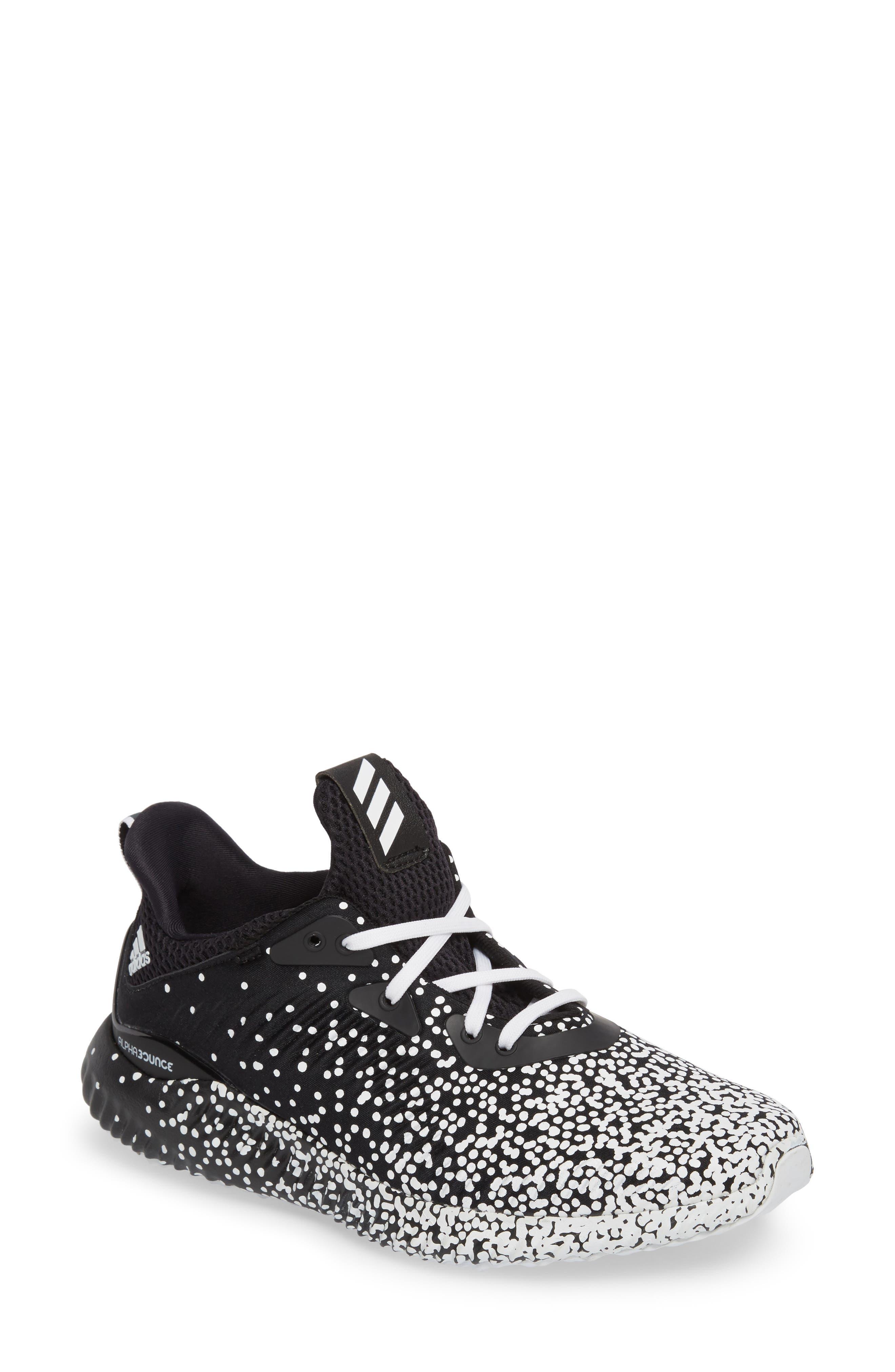 AlphaBounce EM Running Shoe,                         Main,                         color, Core Black