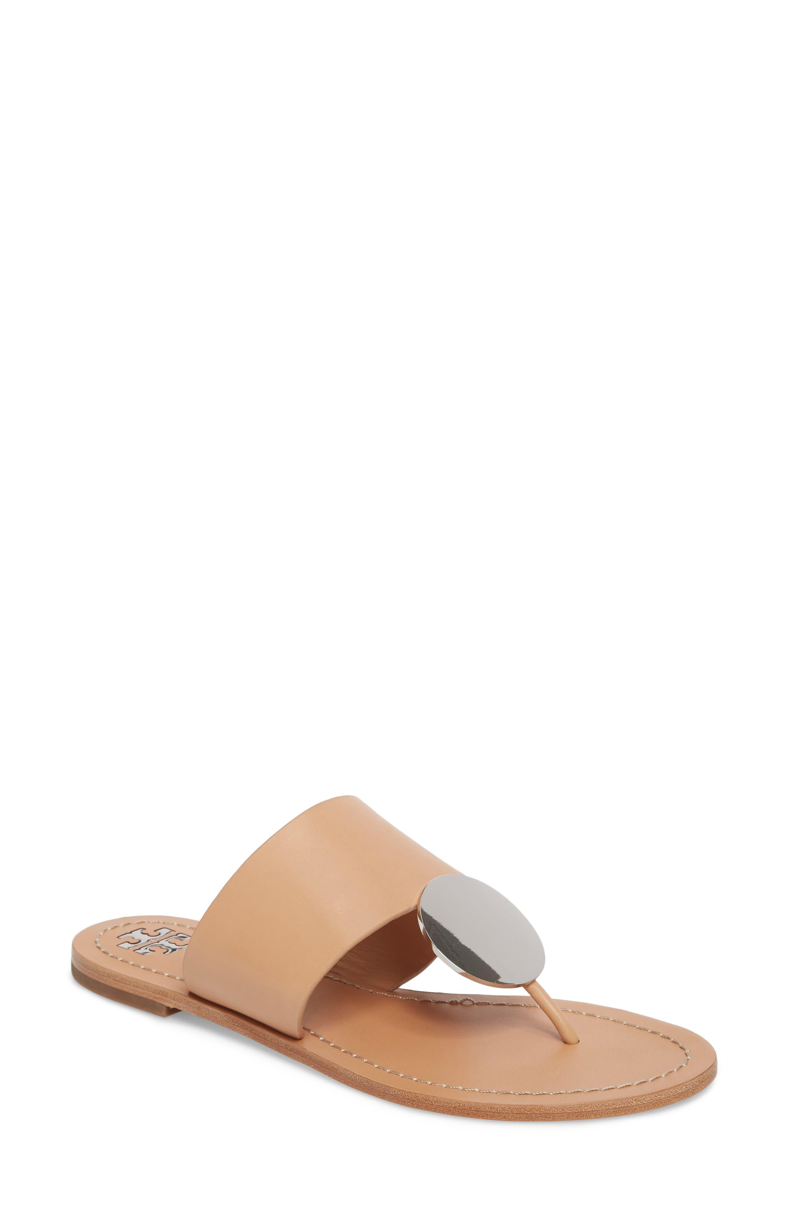 Patos Sandal,                         Main,                         color, Natural Vachetta/ Silver