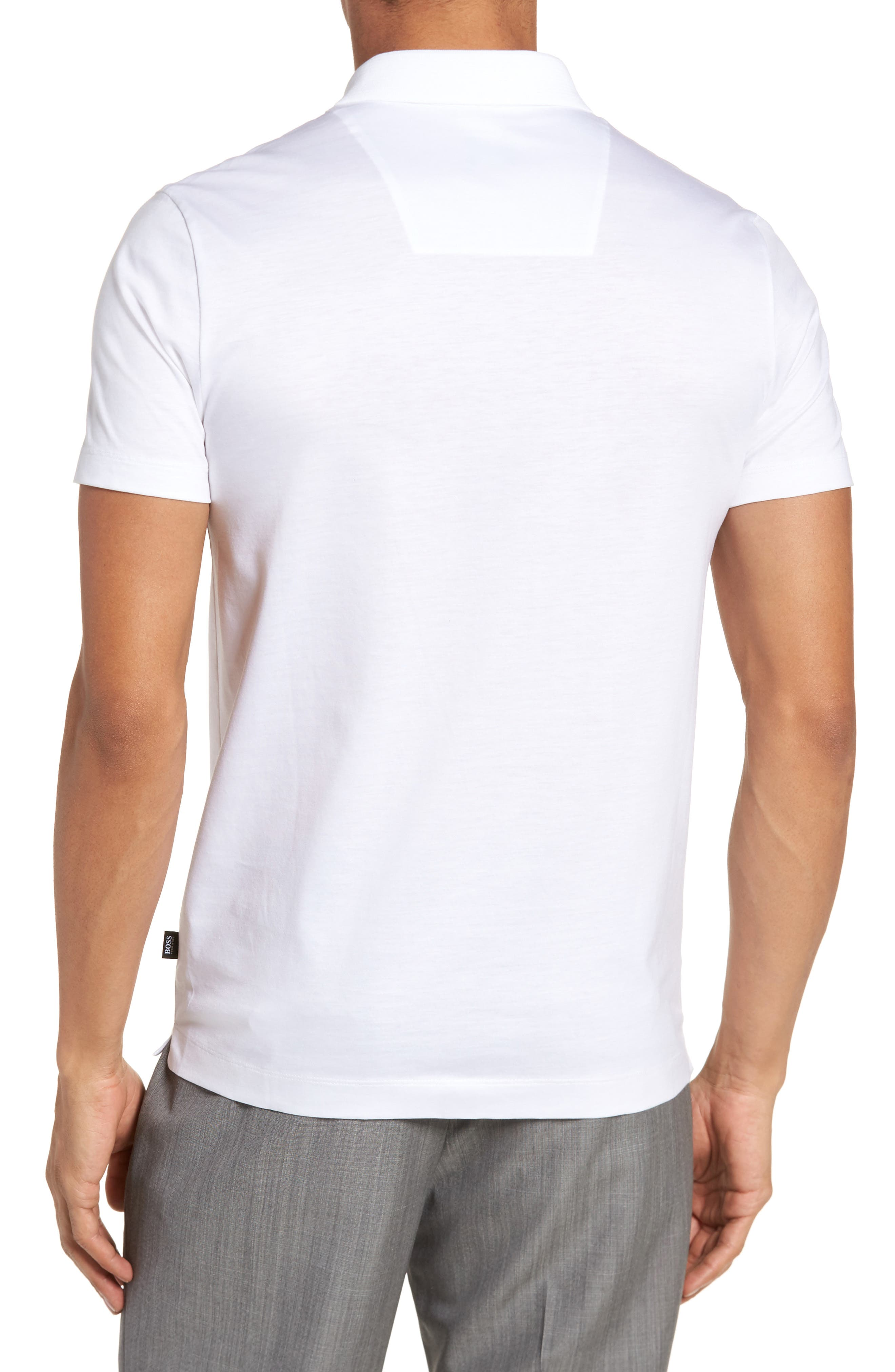 Puno Slim Fit Short Sleeve Sport Shirt,                             Alternate thumbnail 3, color,                             White