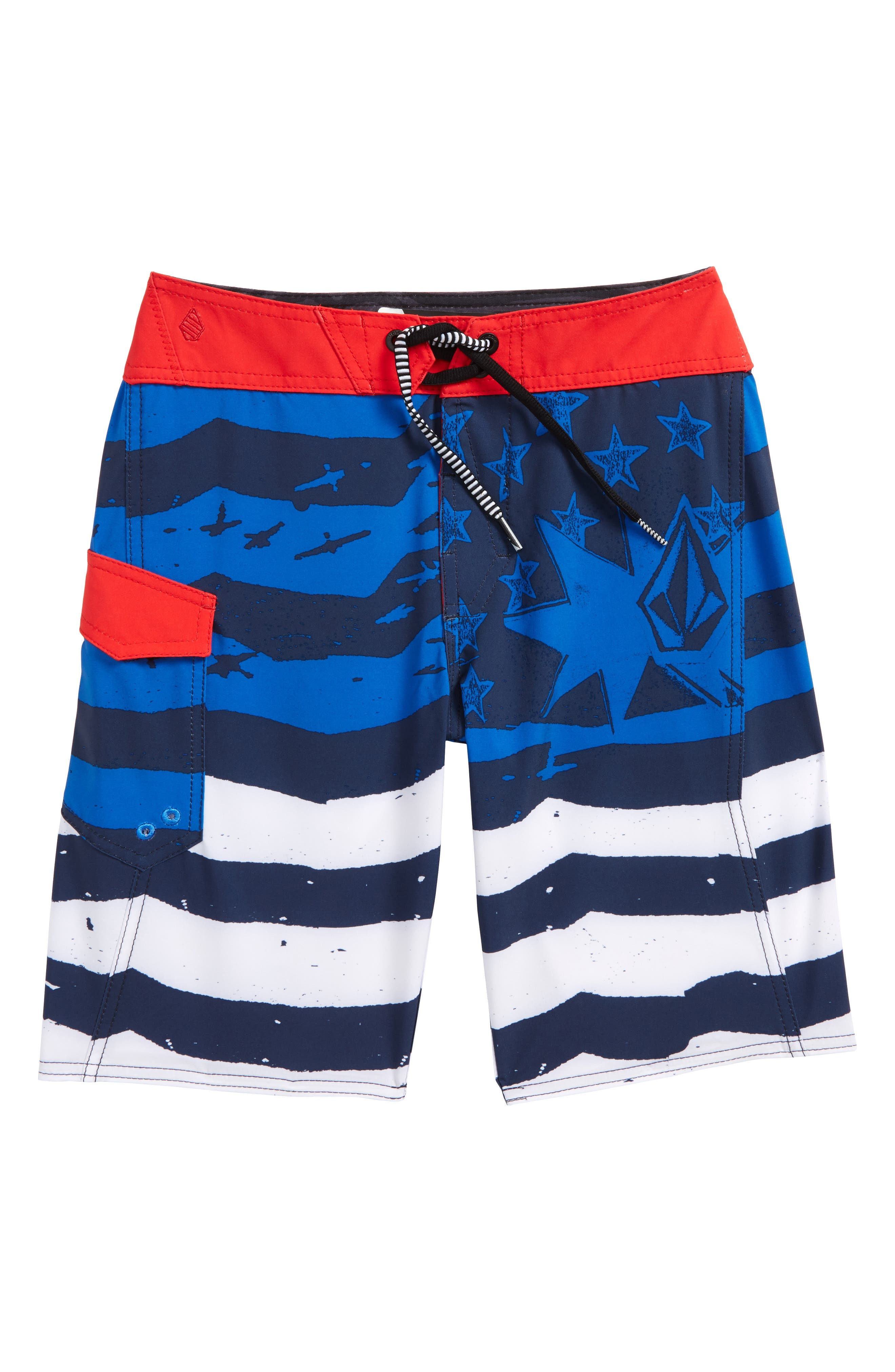 Youth of July Mod Board Shorts,                         Main,                         color, True Blue