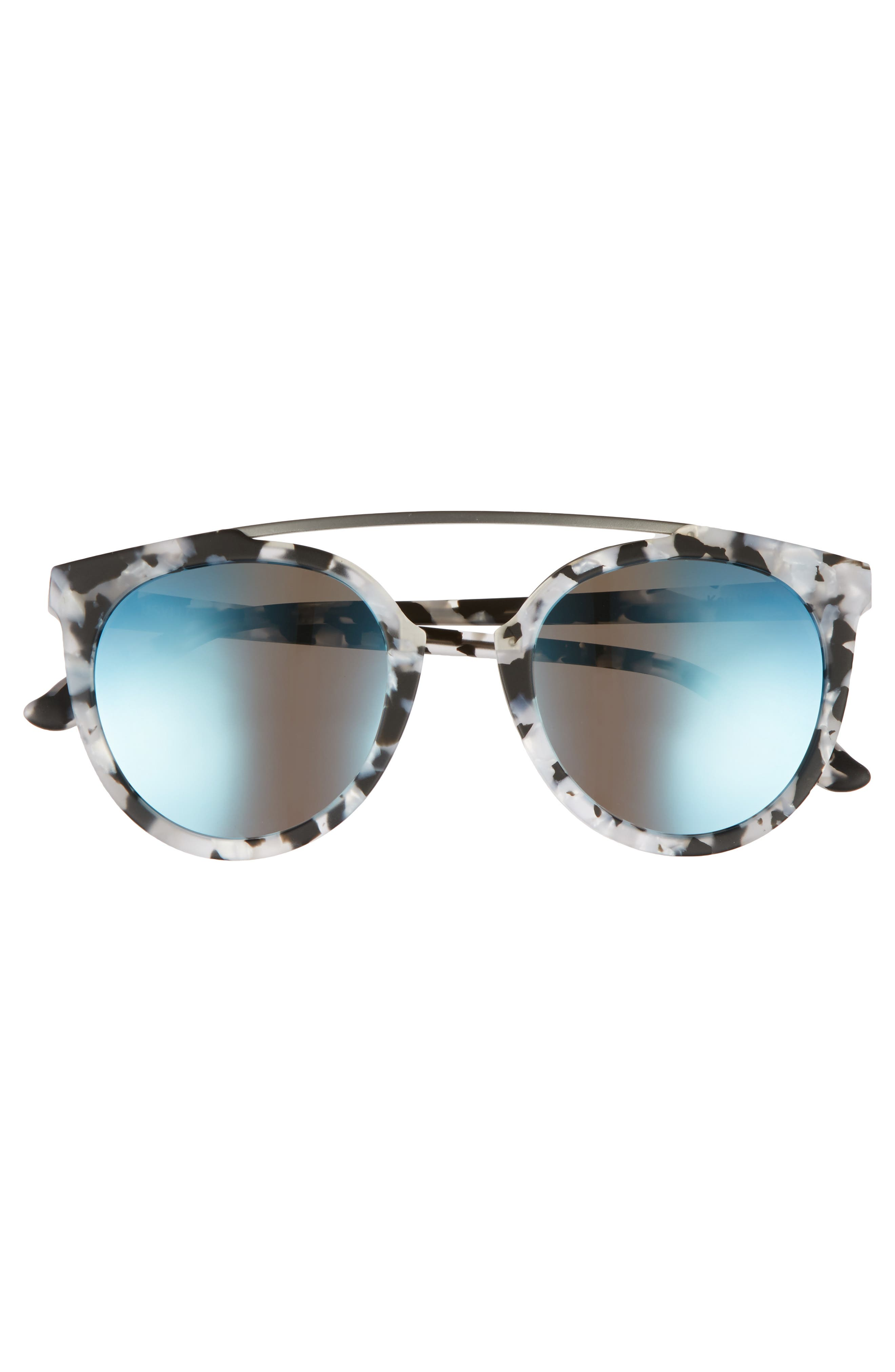 Key West 50mm Polarized Aviator Sunglasses,                             Alternate thumbnail 3, color,                             Marble