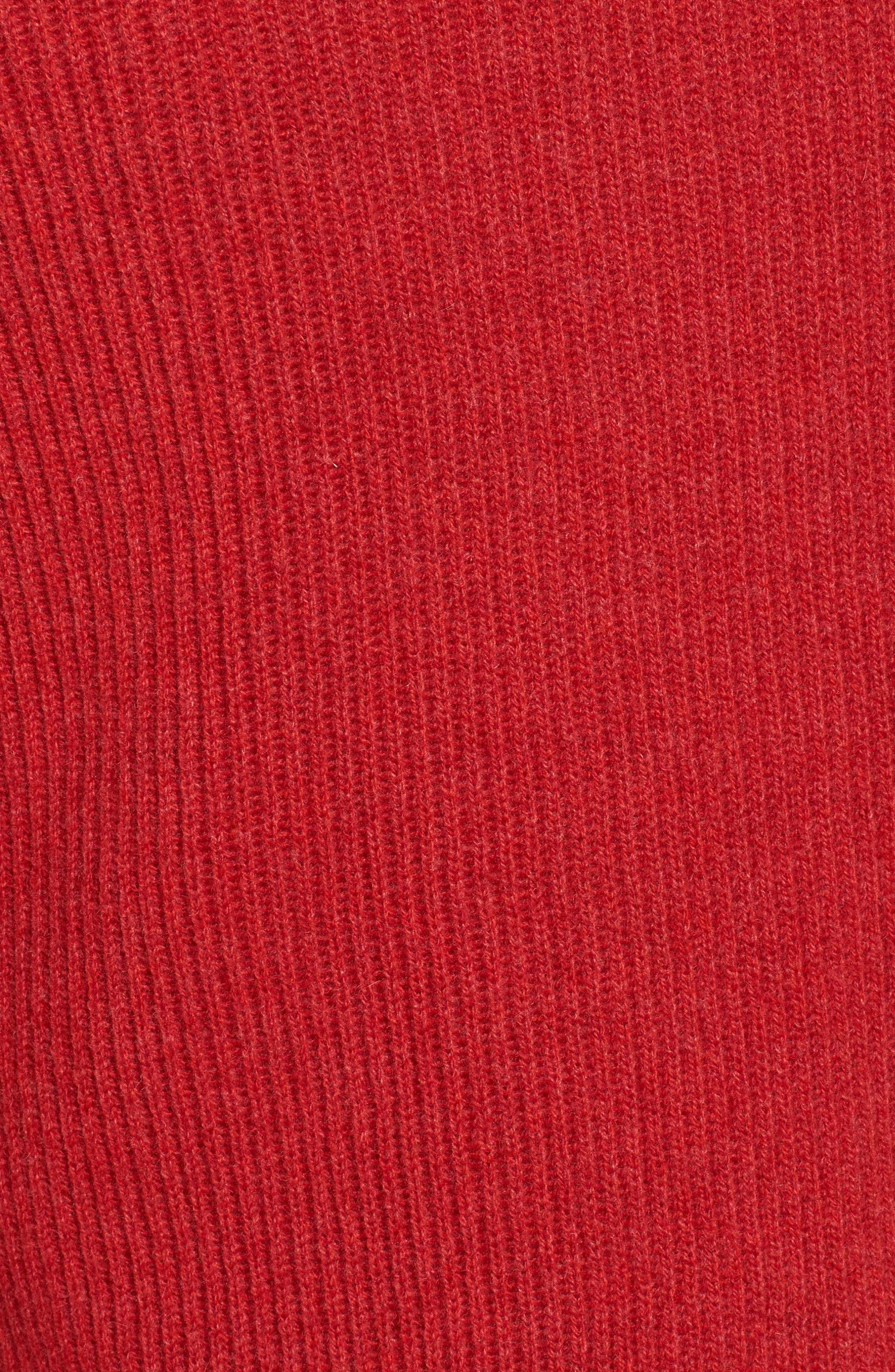 Cashmere Hoodie,                             Alternate thumbnail 5, color,                             Red