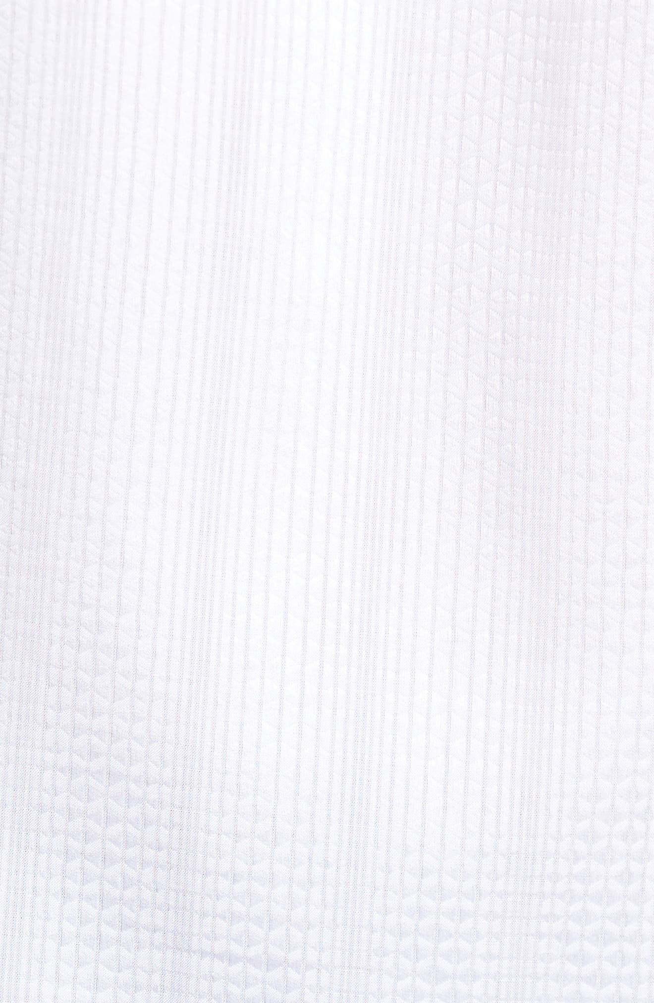 Tonal Diamond Jacquard Classic Fit Sport Shirt,                             Alternate thumbnail 5, color,                             White