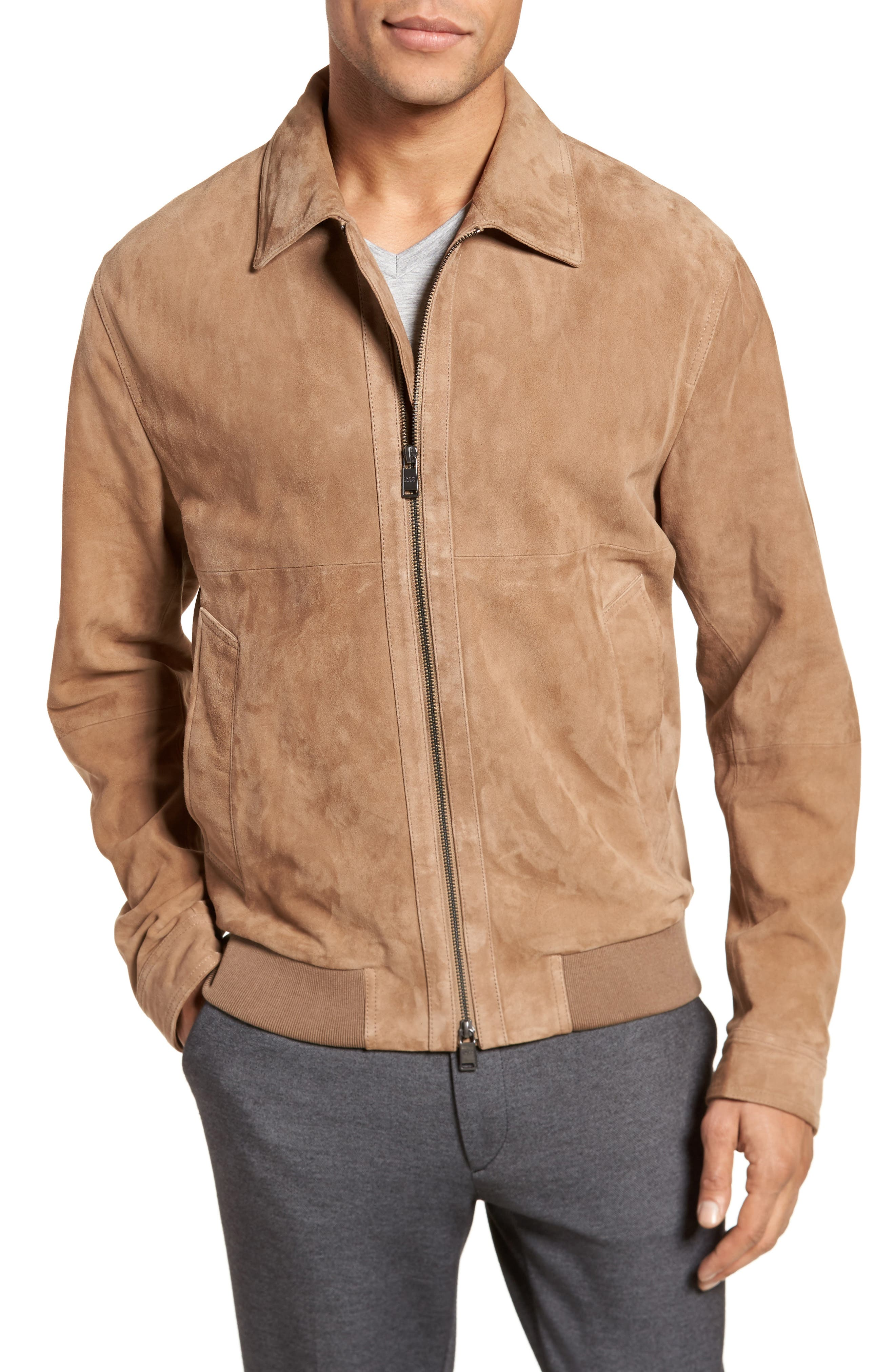 BOSS Avelan Suede Jacket