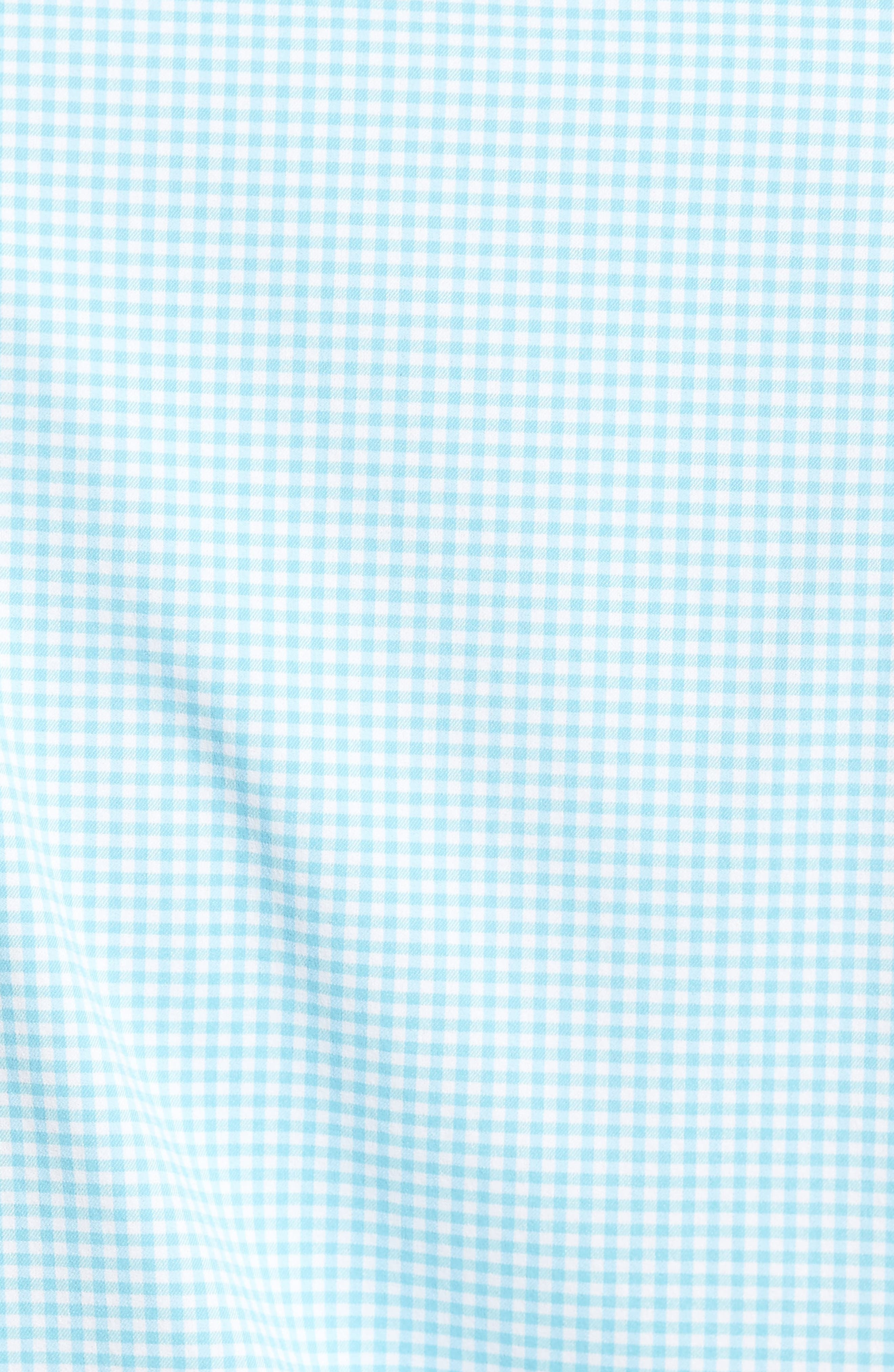 Mimi Regular Fit Check Performance Sport Shirt,                             Alternate thumbnail 5, color,                             Grotto Blue/ White