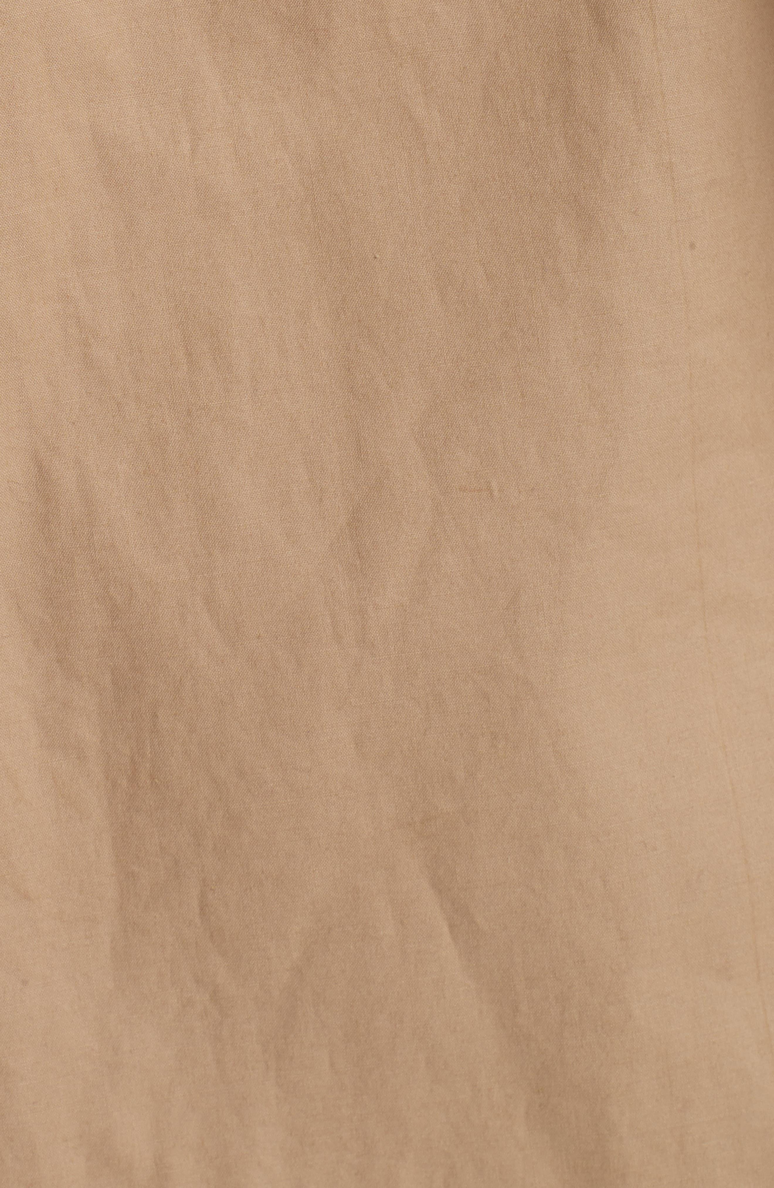 Bonded Poplin Trench Coat,                             Alternate thumbnail 6, color,                             Khaki