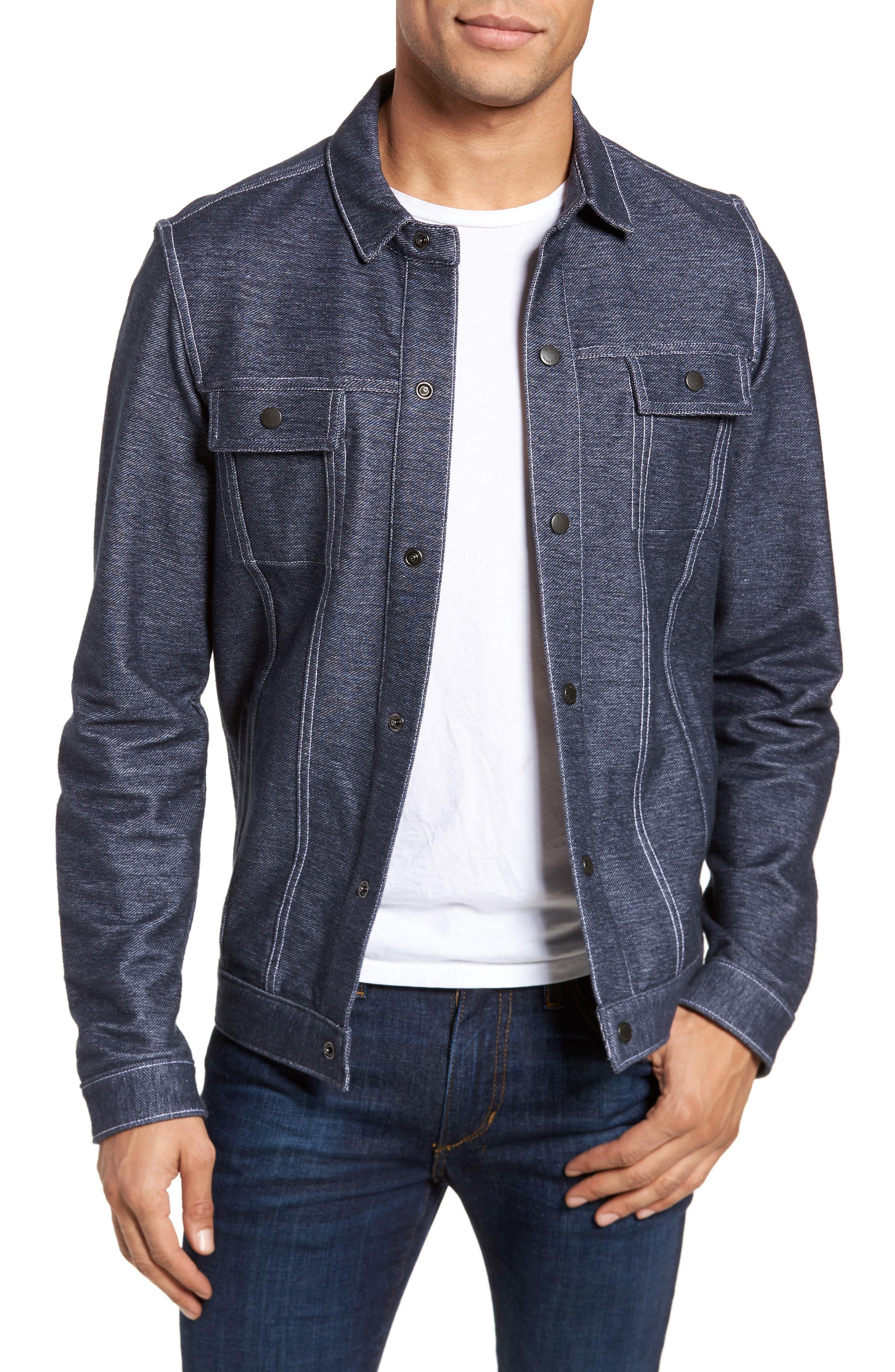 Sigmon Stretch Denim Jacket,                         Main,                         color, Blue