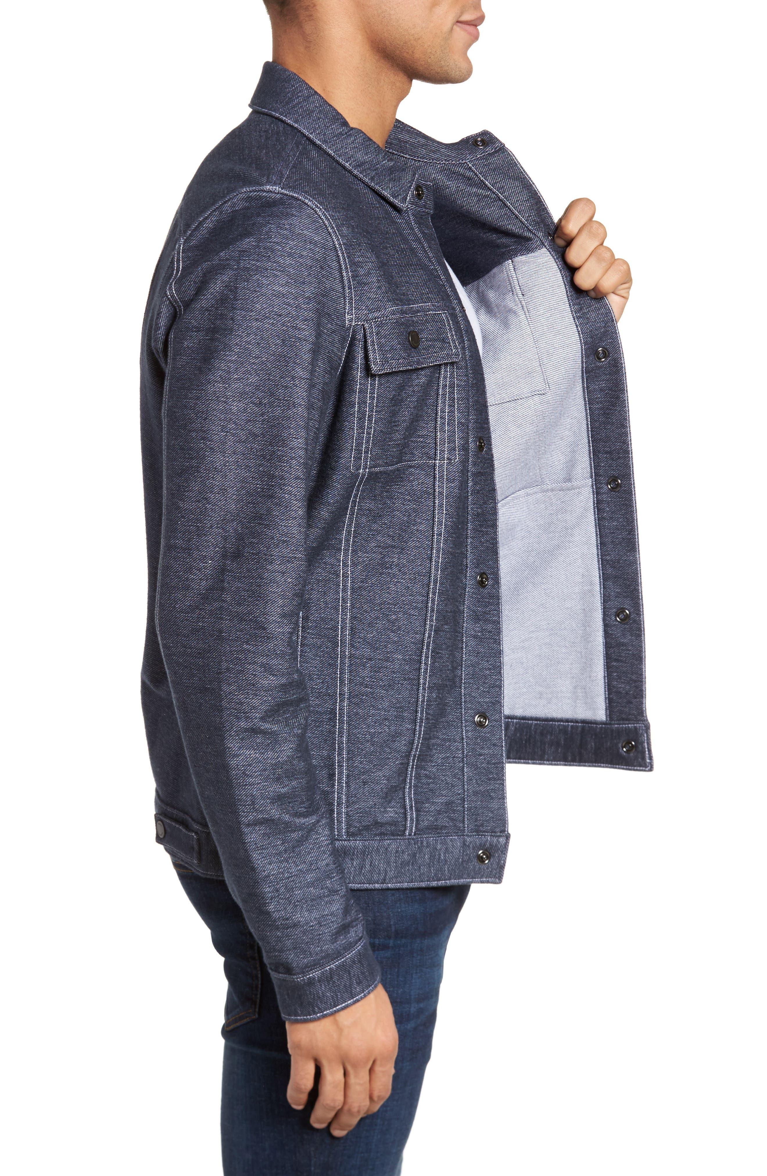 Sigmon Stretch Denim Jacket,                             Alternate thumbnail 3, color,                             Blue