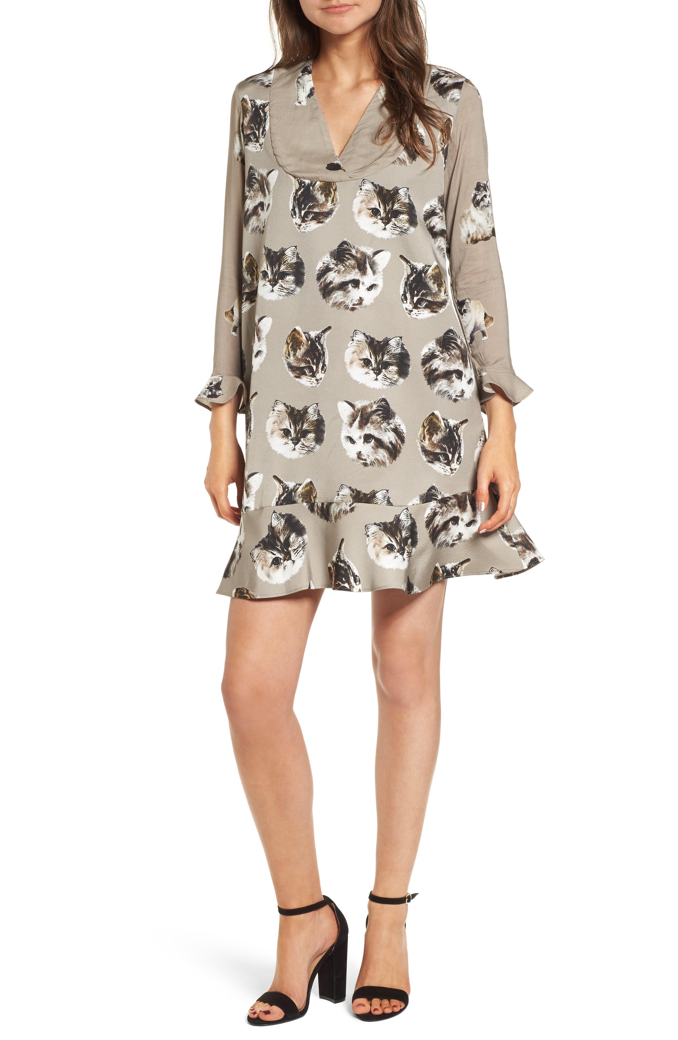 Hilda Shift Dress,                         Main,                         color, Taupe