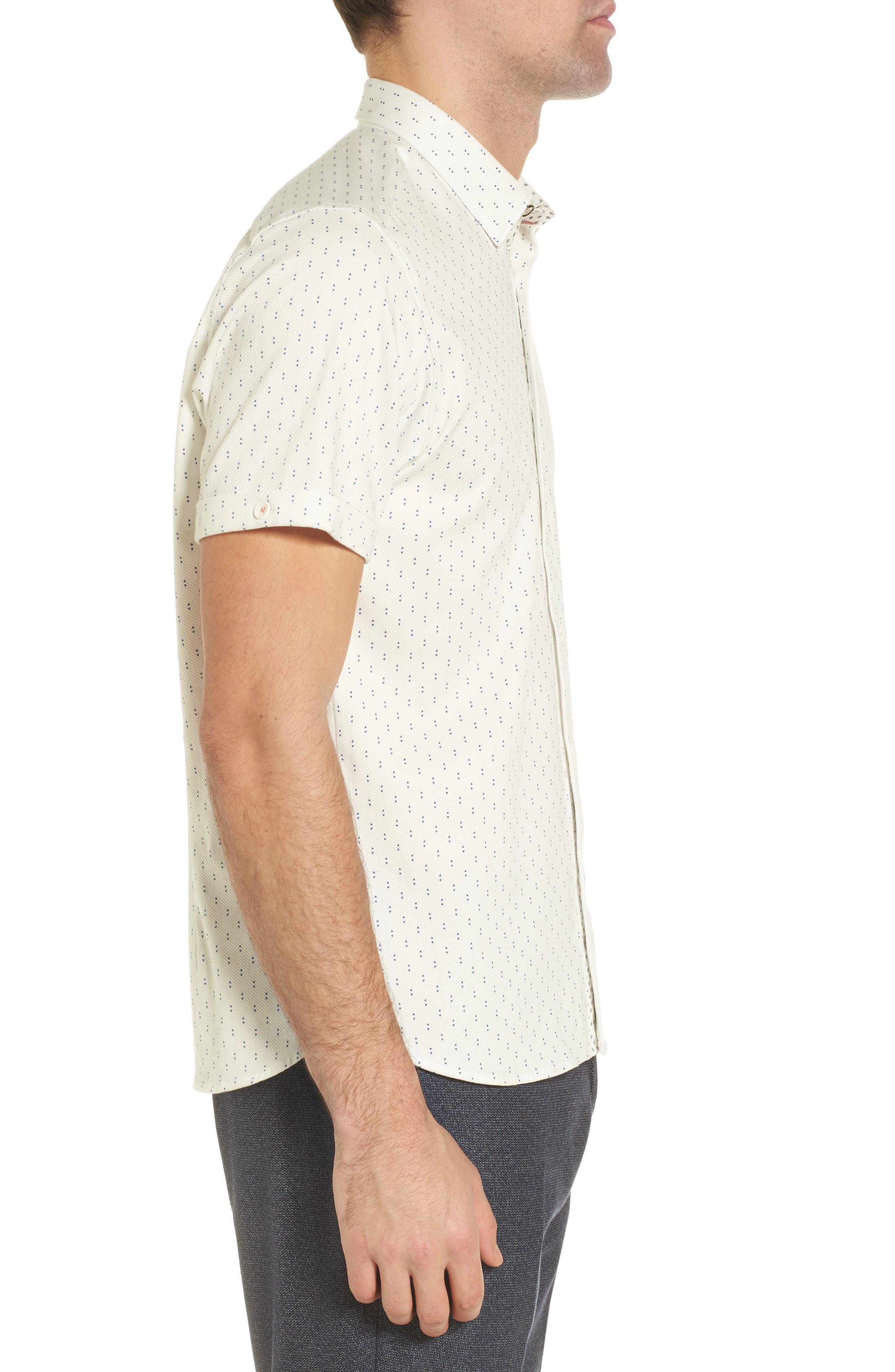 Franko Print Sport Shirt,                             Alternate thumbnail 4, color,                             White