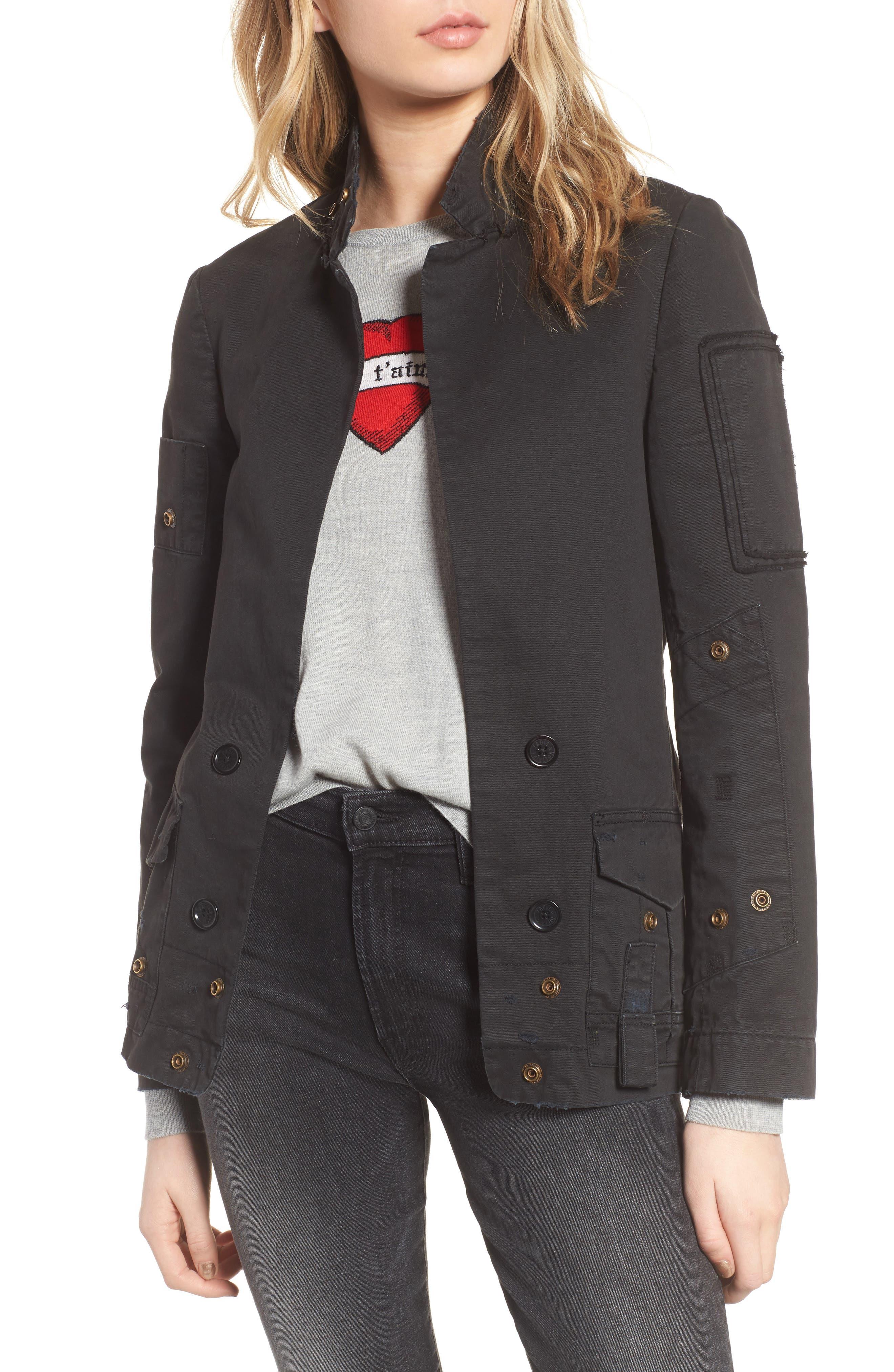 Vladimir Grunge Jacket,                         Main,                         color, Black