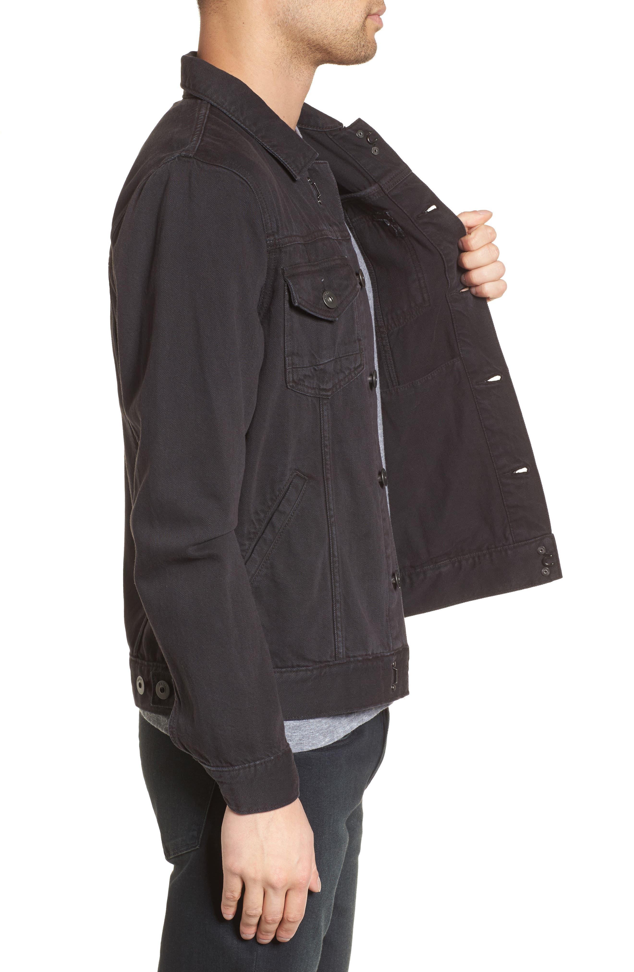 Scout Denim Jacket,                             Alternate thumbnail 3, color,                             Vintage Raven