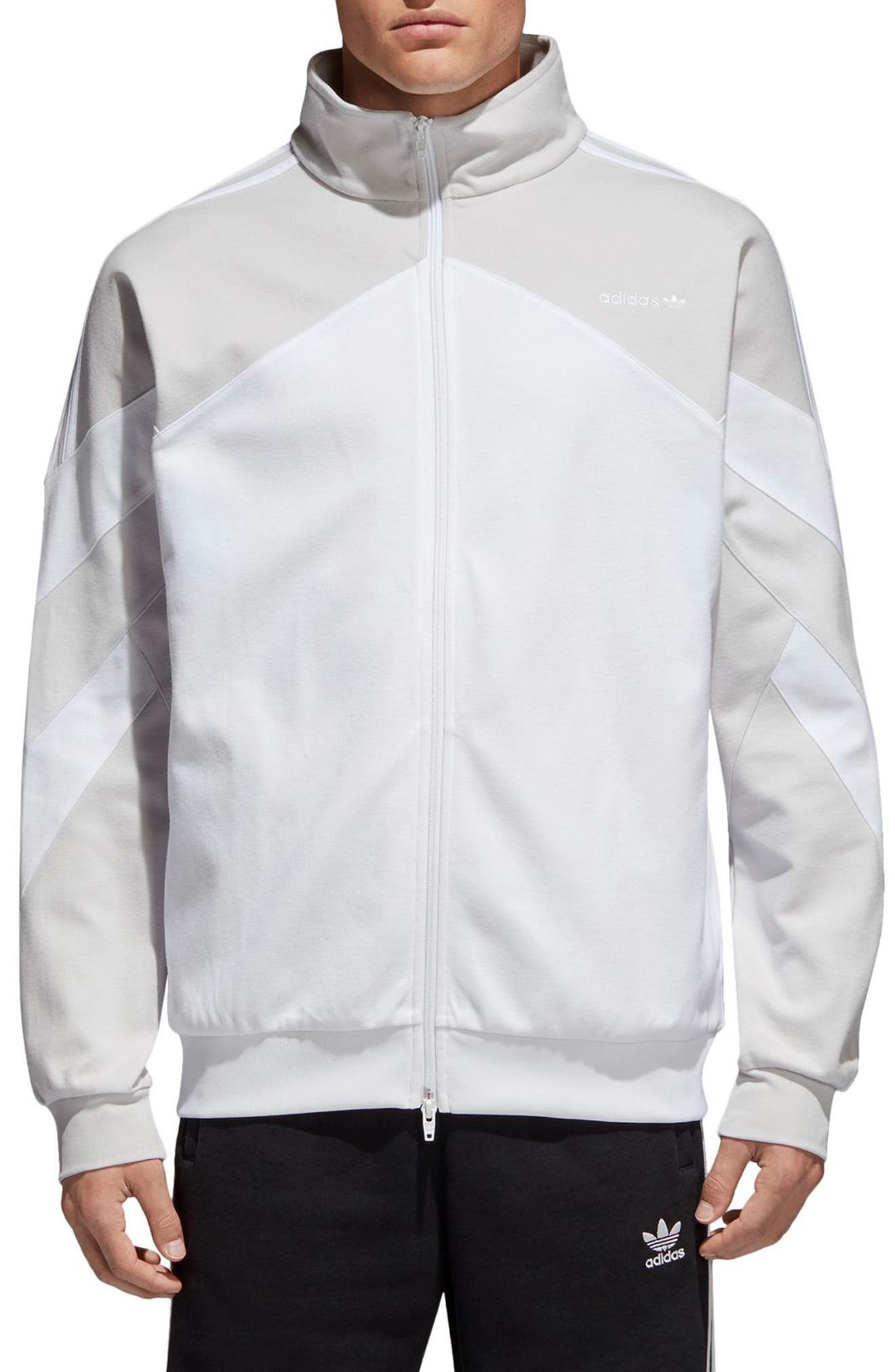 Palmeston Track Jacket,                             Main thumbnail 1, color,                             White