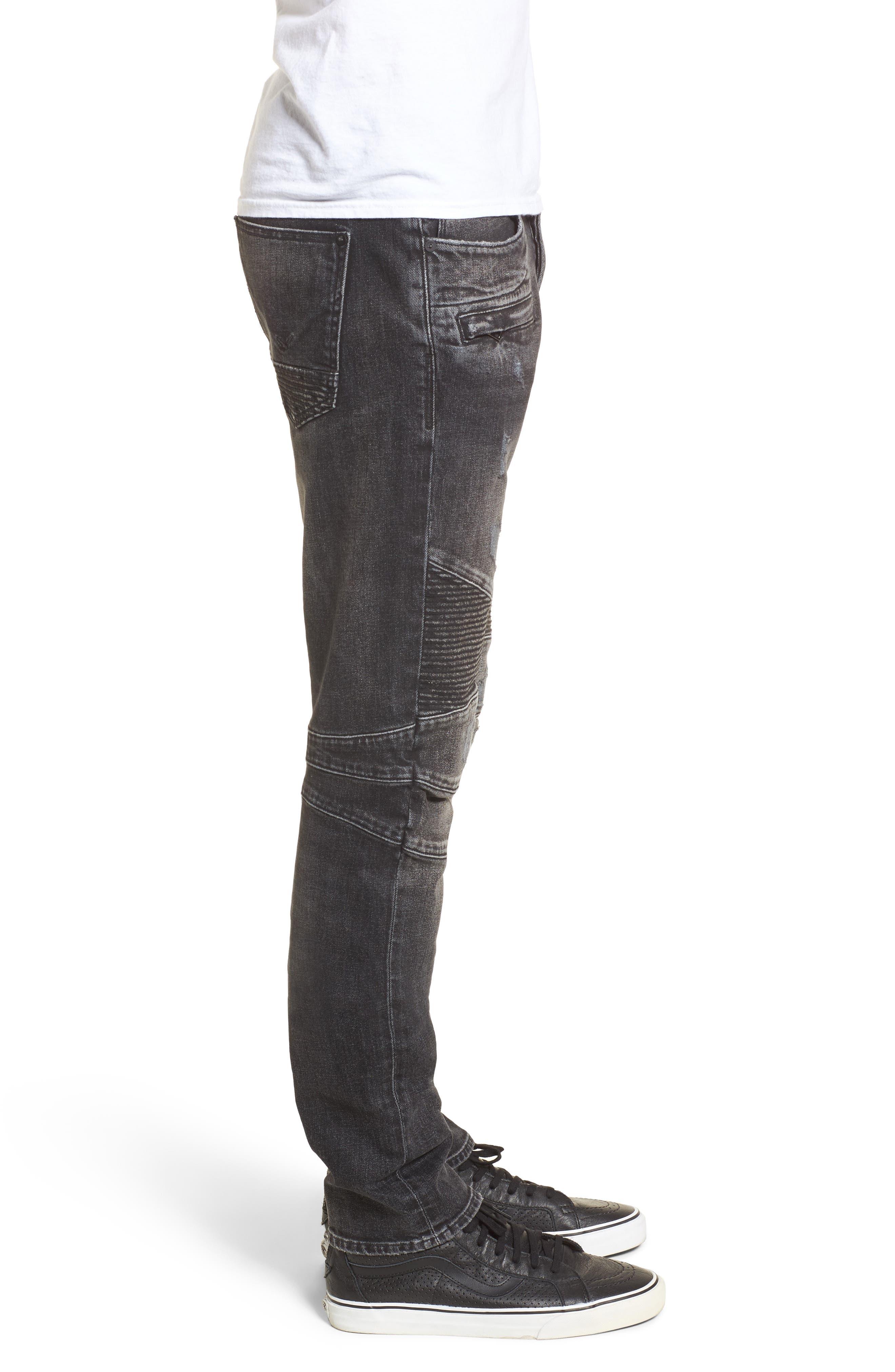 Blinder Biker Skinny Fit Jeans,                             Alternate thumbnail 3, color,                             Hacker