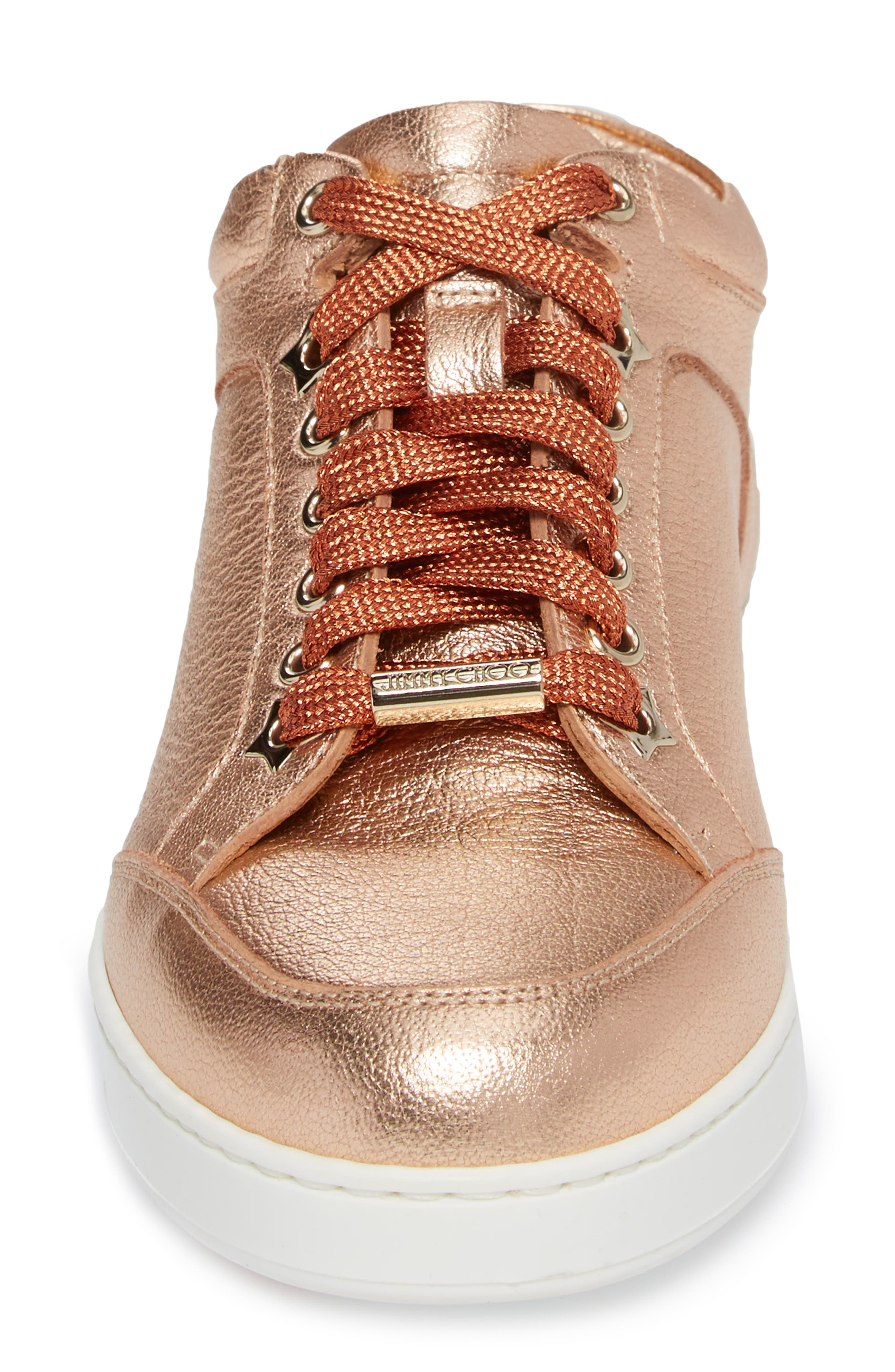 Alternate Image 4  - Jimmy Choo Miami Metallic Sneaker (Women)