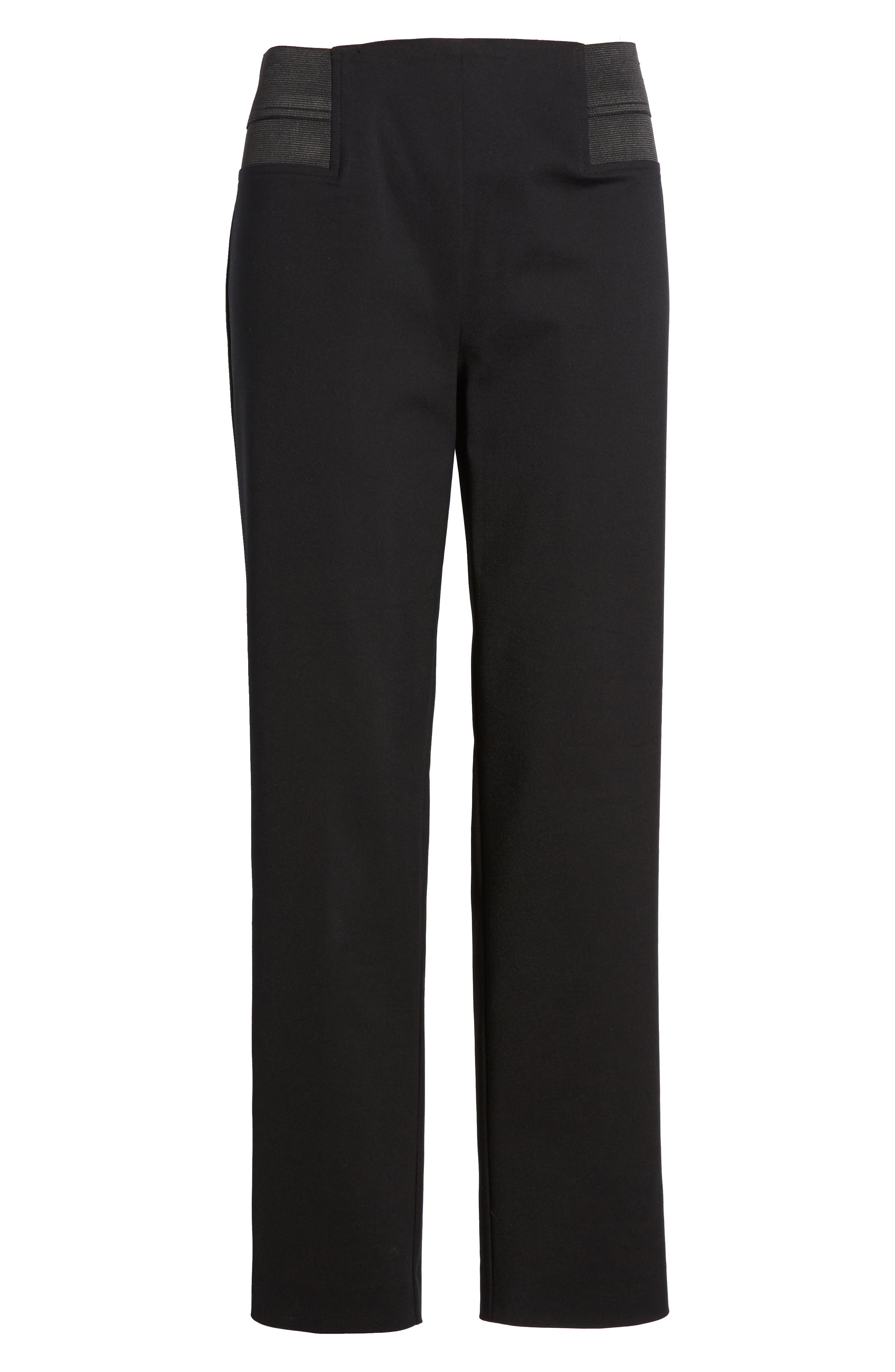 Ming Want Pull-On Ankle Pants,                             Alternate thumbnail 6, color,                             Black